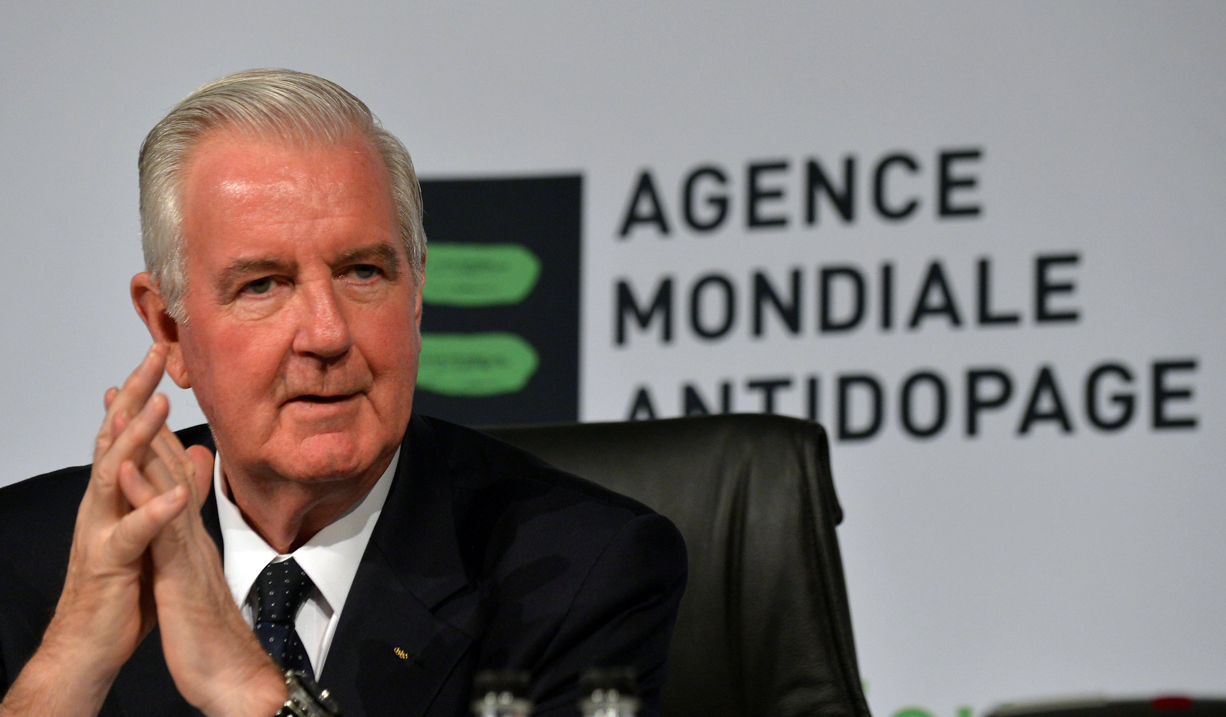 WADA President Sir Craig Reedie in Johannesburg, November 2013.