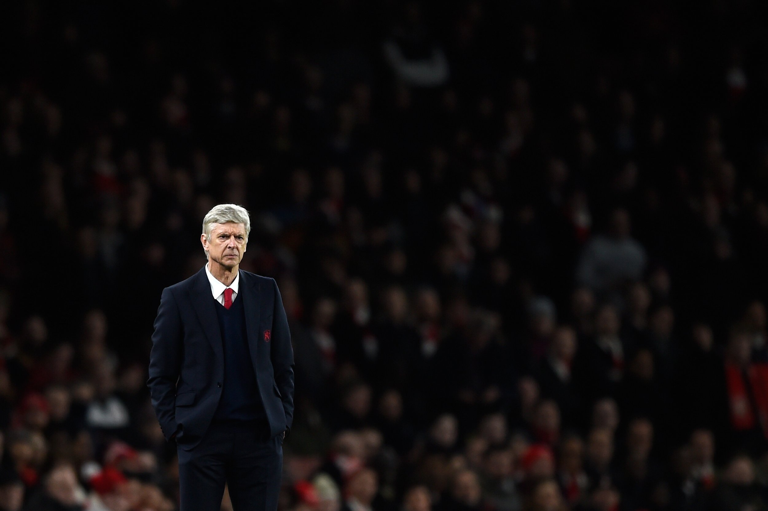 Arsenal manager Arsene Wenger at Emirates Stadium on February 2.