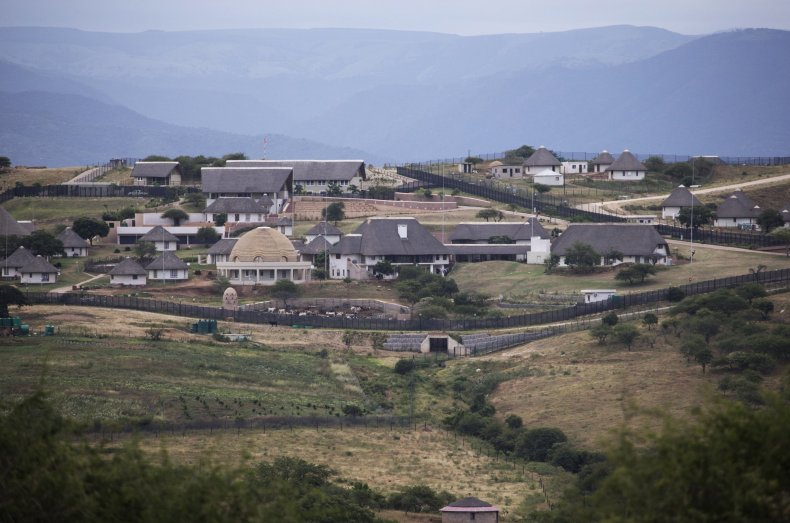 The Nkandla homestead owned by Jacob Zuma.