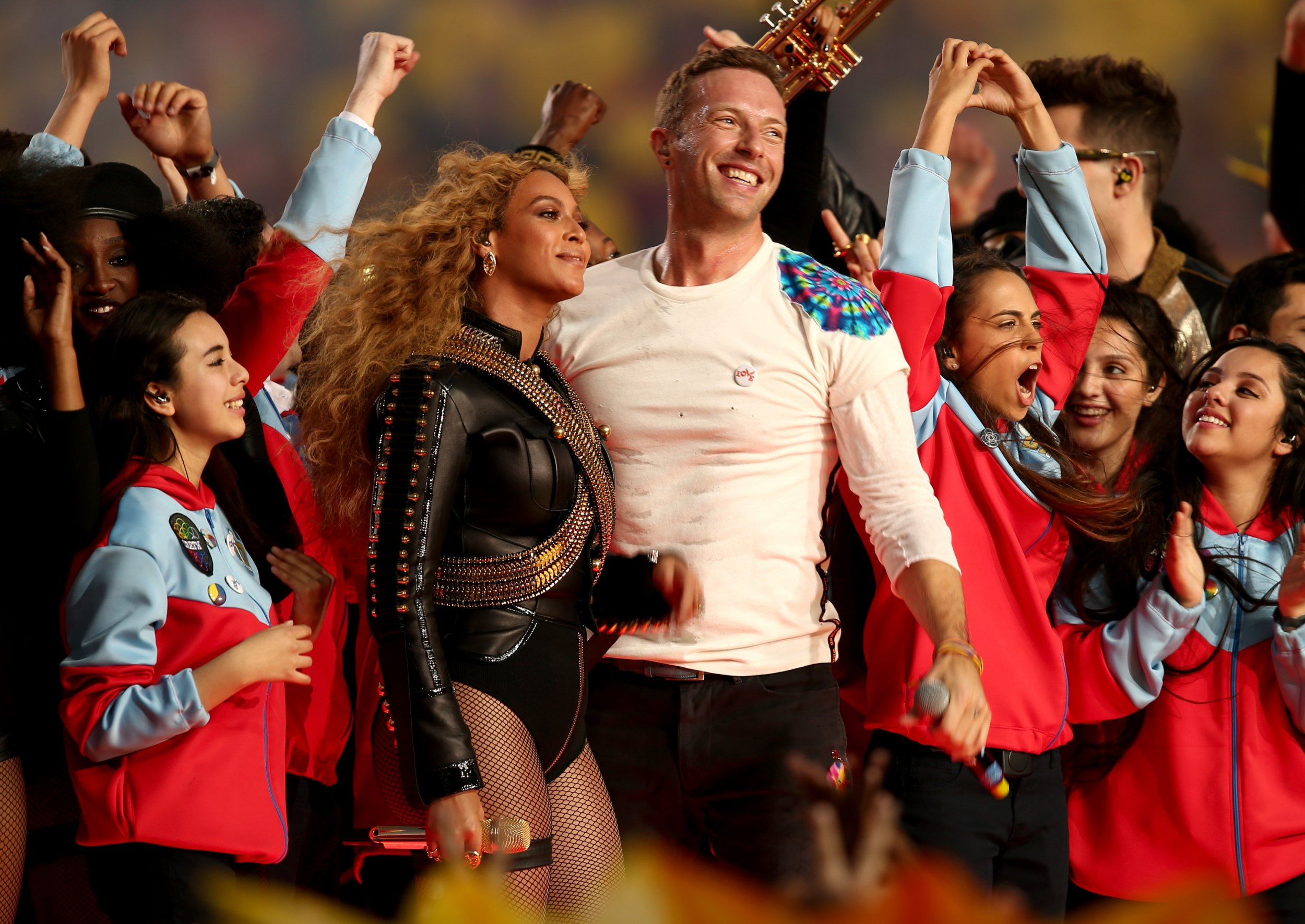 Beyonce and Chris Martin headlined Super Bowl 50's halftime show.