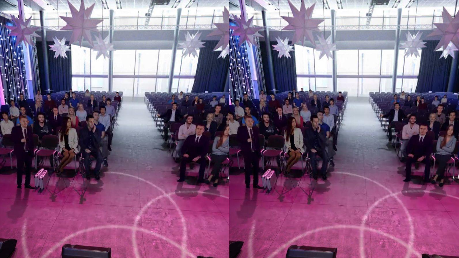 Virtual reality public speaking VR Google Cardboard