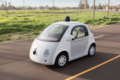 google self-driving car wireless charging