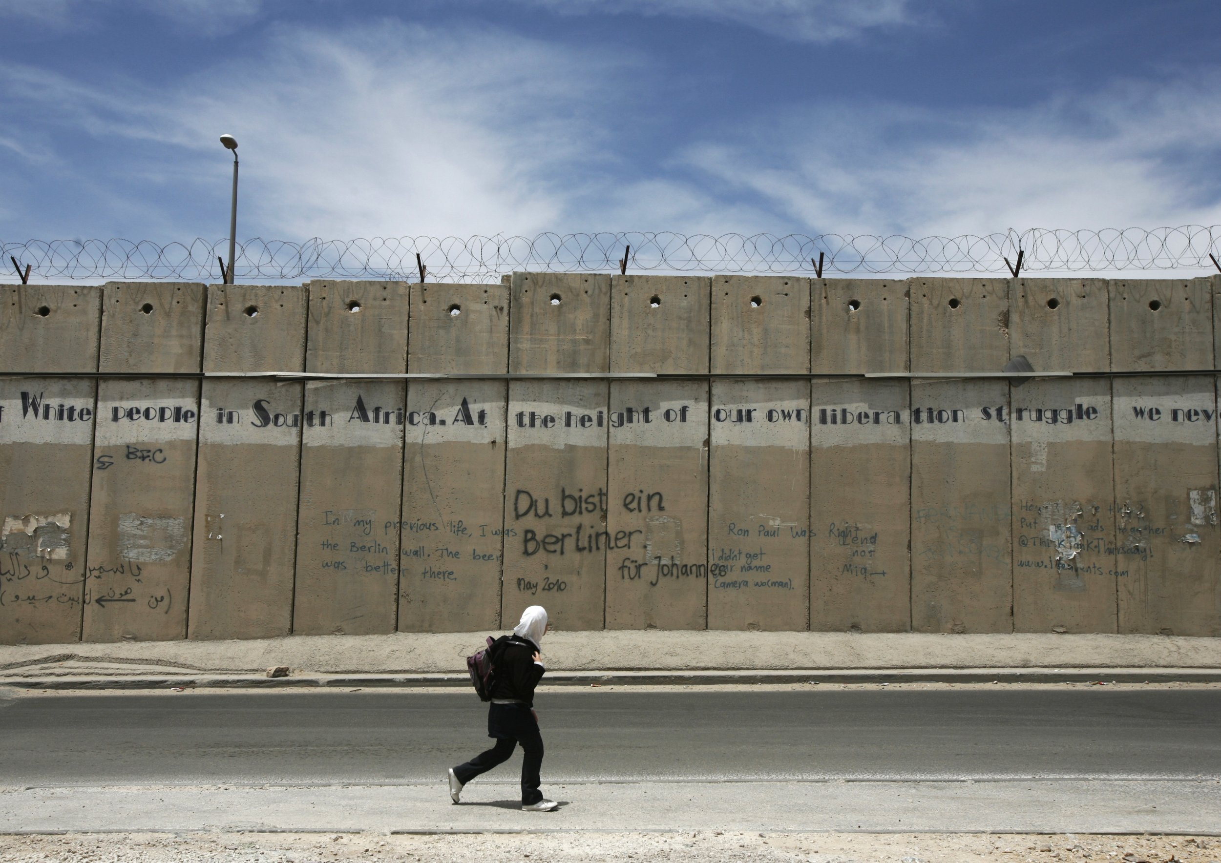 Wall Israel Palestinians Lebanon Syria West Bank Netanyahu