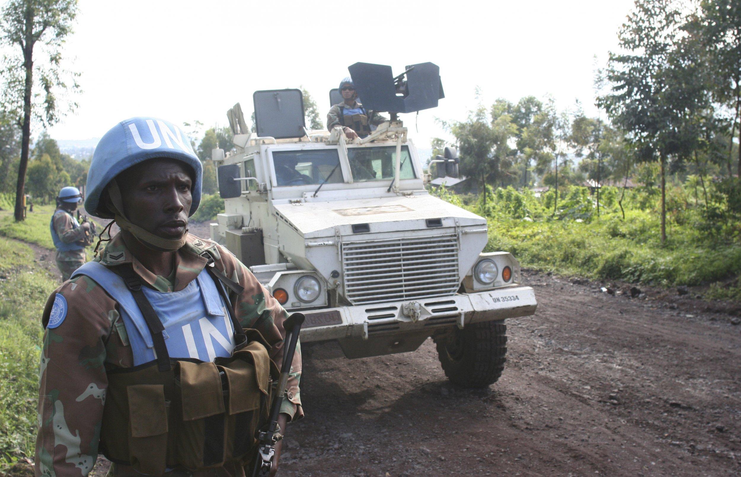 U.N. peacekeepers patrol in Goma, eastern Democratic Republic of Congo.