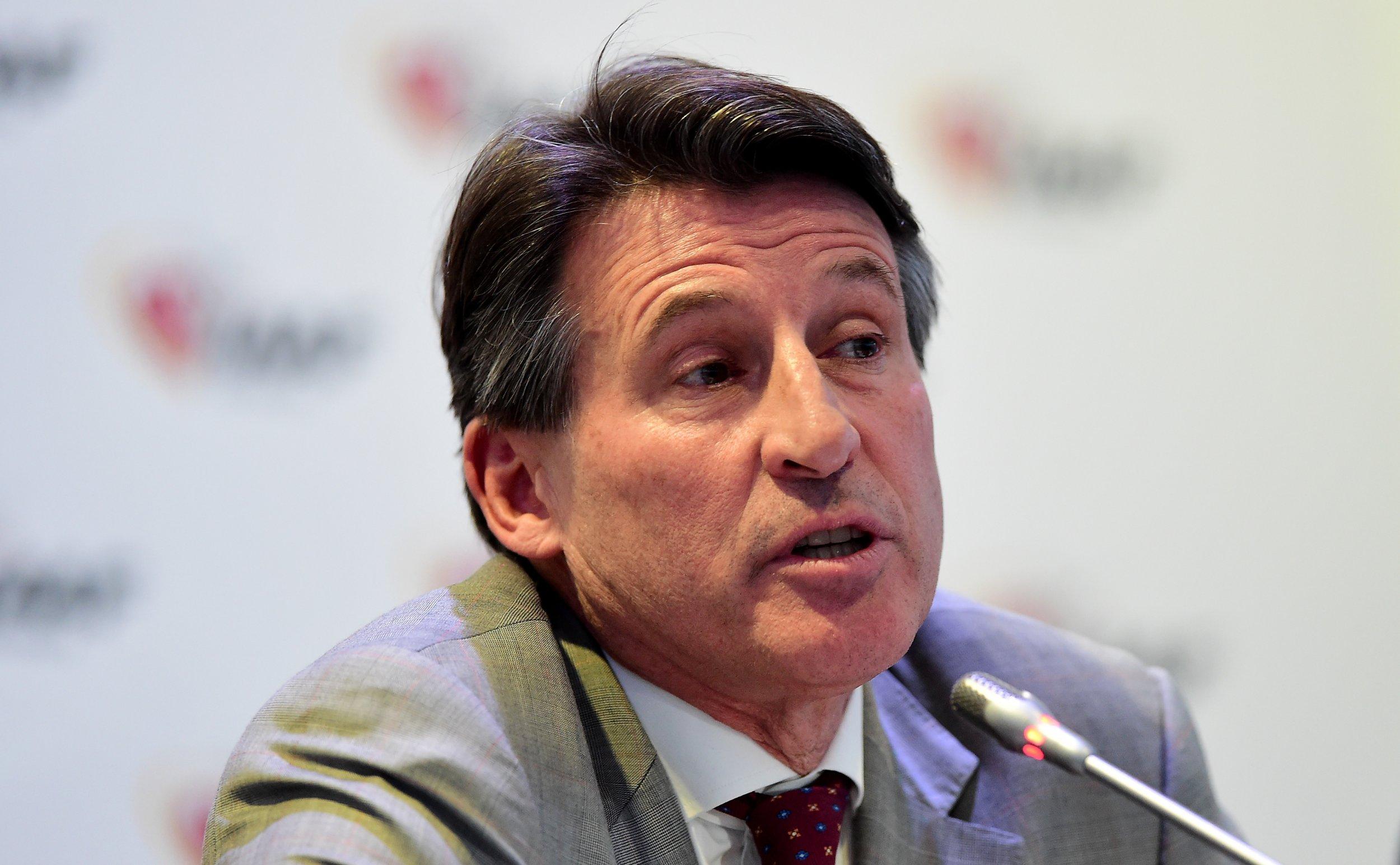 IAAF President Lord Coe is under pressure to retain sponsors.