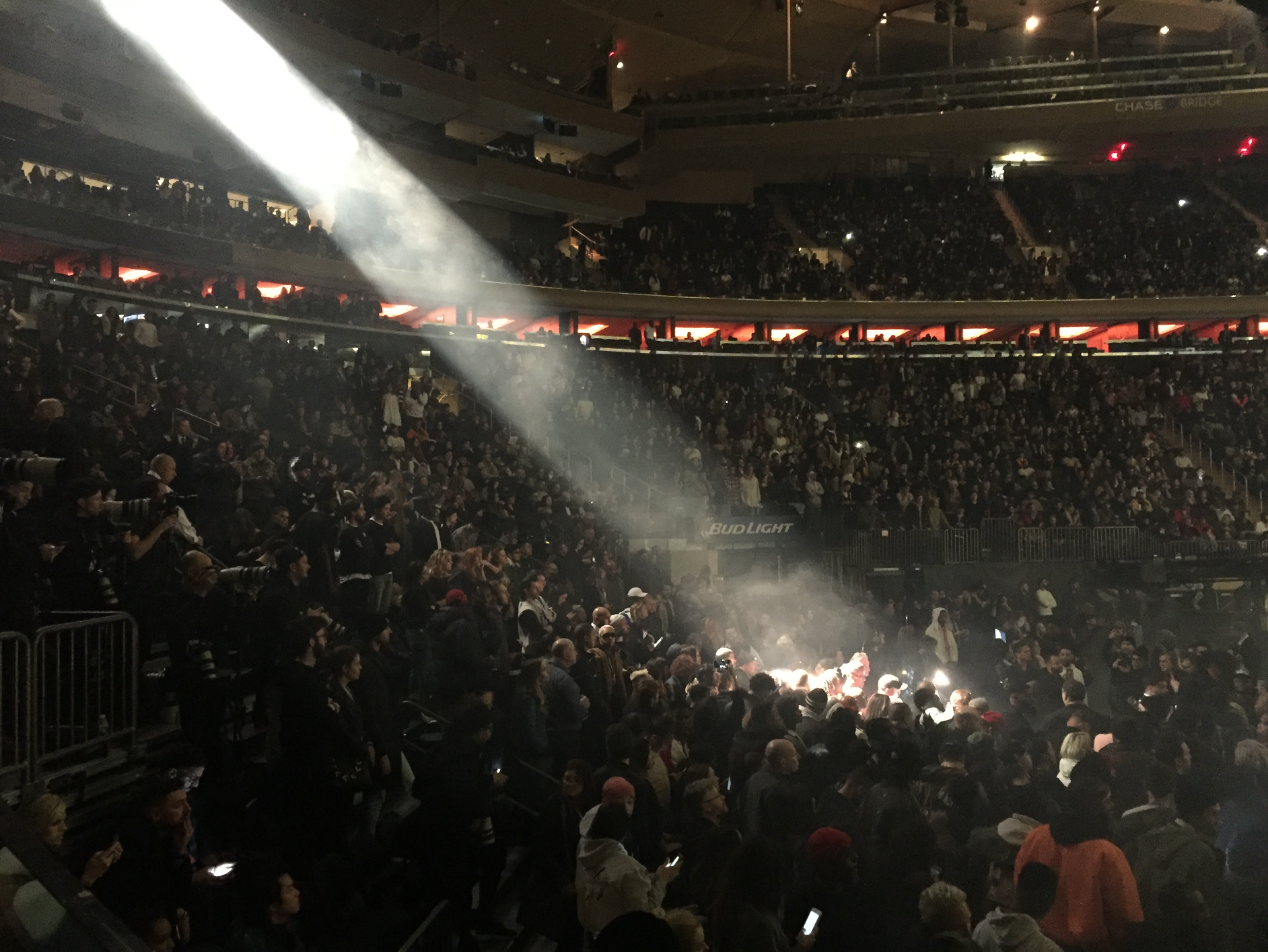 Witnessing the bizarre spectacle of kanye west 39 s yeezy season 3 event at madison square garden for Kanye west madison square garden
