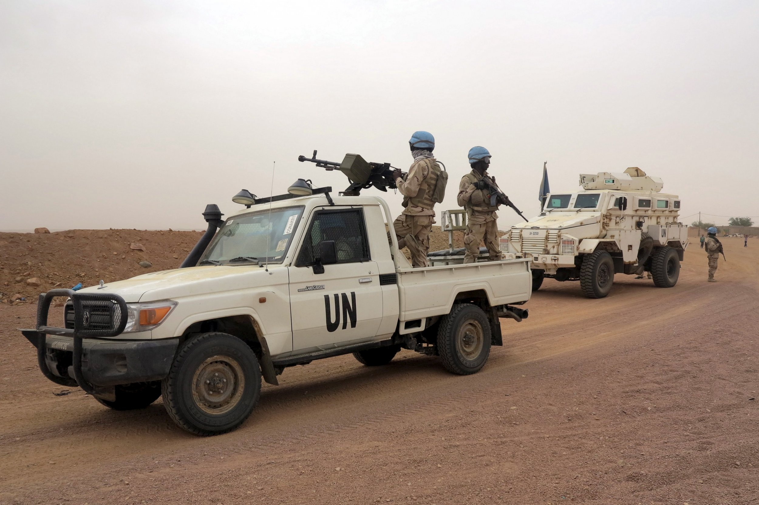 United Nations peacekeepers in Kidal, Mali.