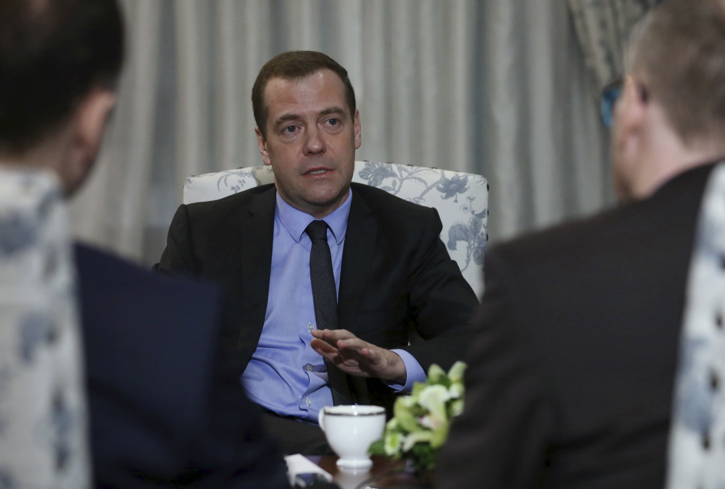 Medvedev talks to German press in Munich