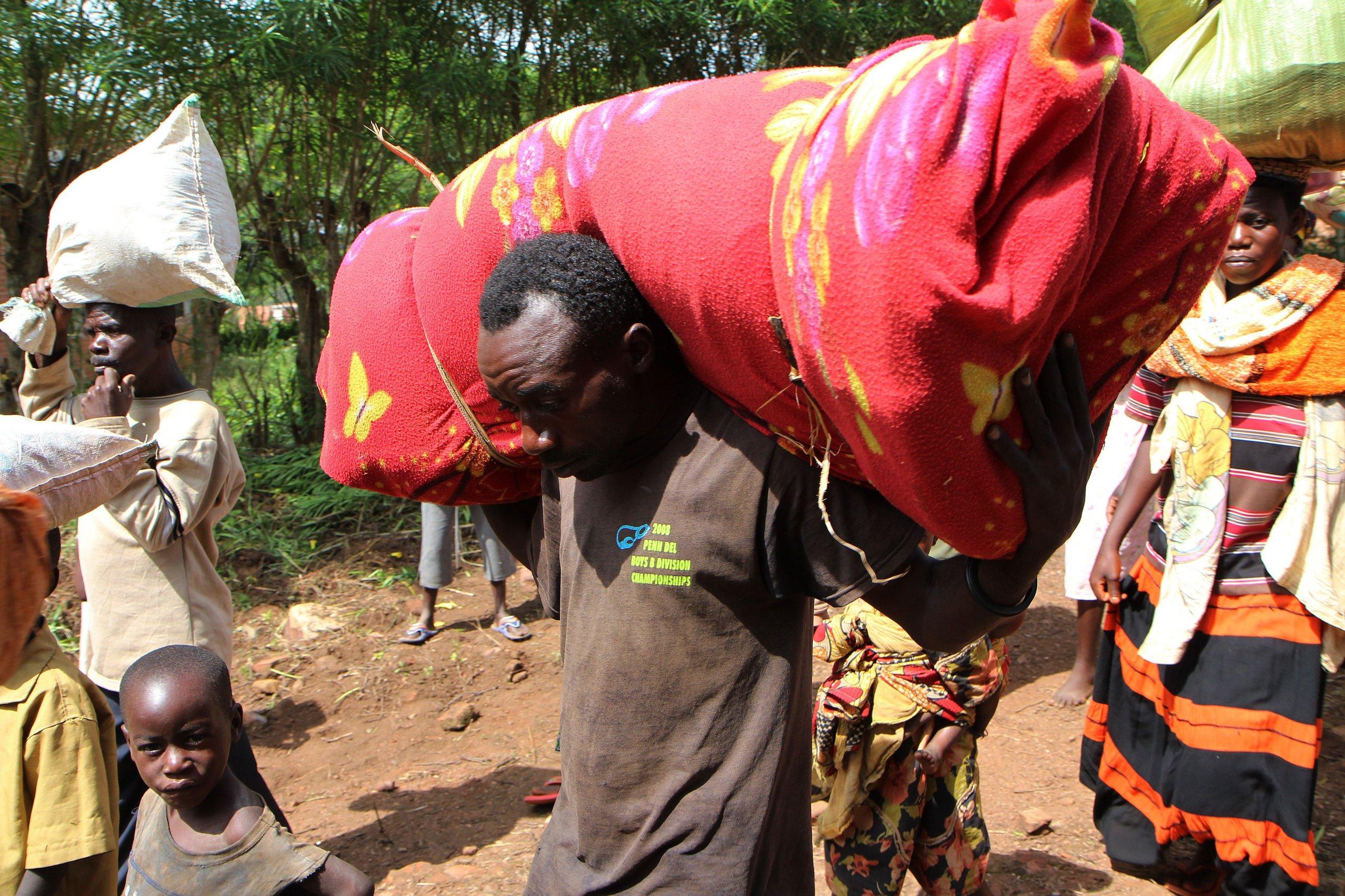 Burundian refugees in Rwanda.