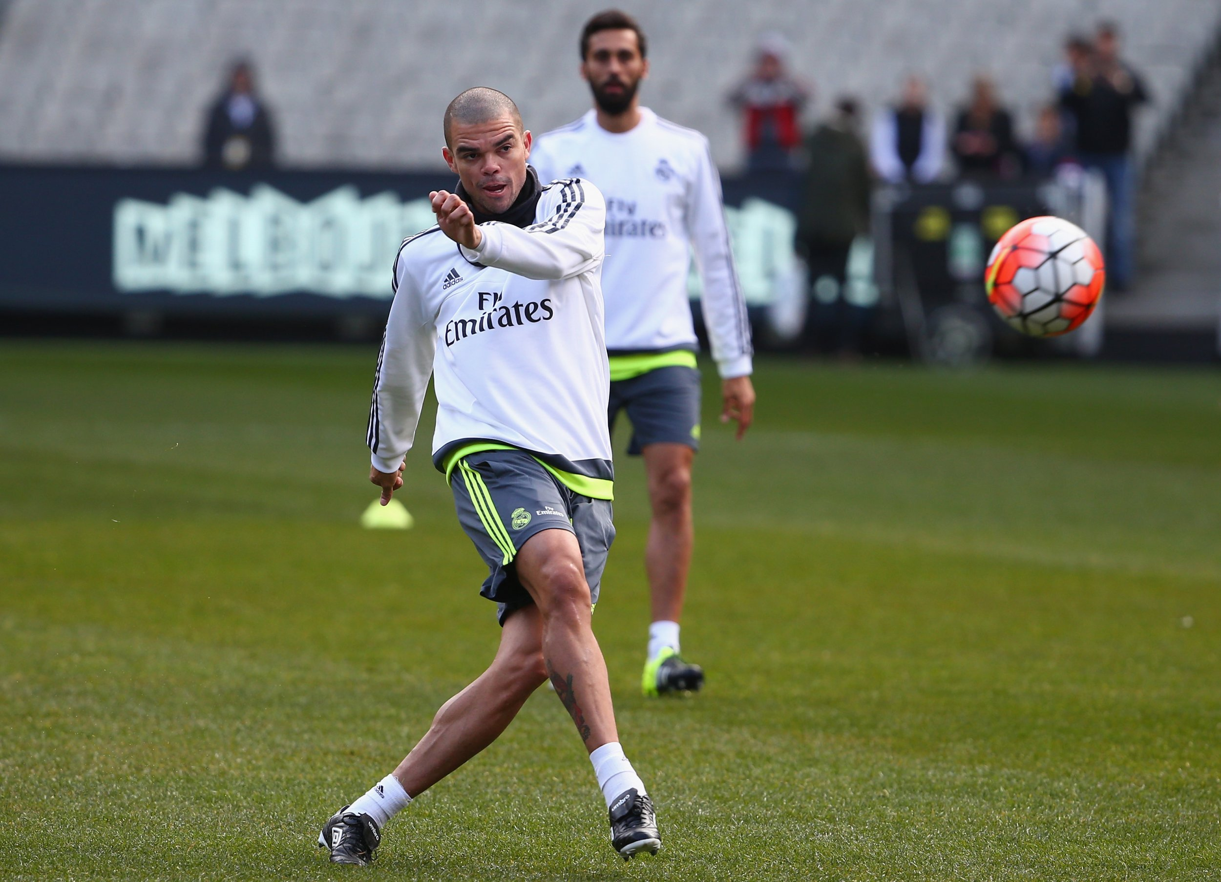 Real Madrid defender Pepe in training, July 2015.