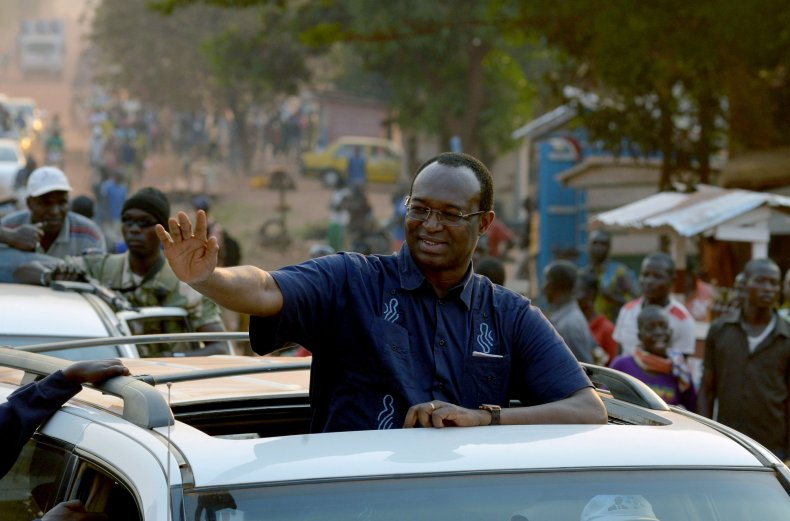 Anicet-Georges Dologuele campaigns in Bangui.