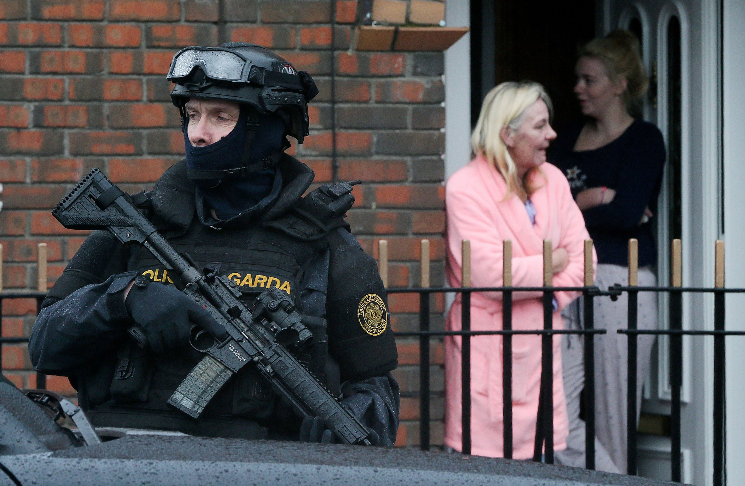 Armed Gardai on patrol