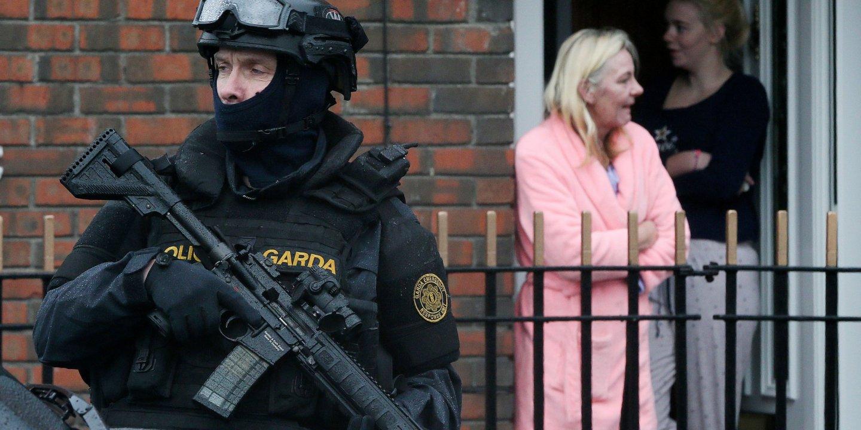 Armed Gardai on patrol