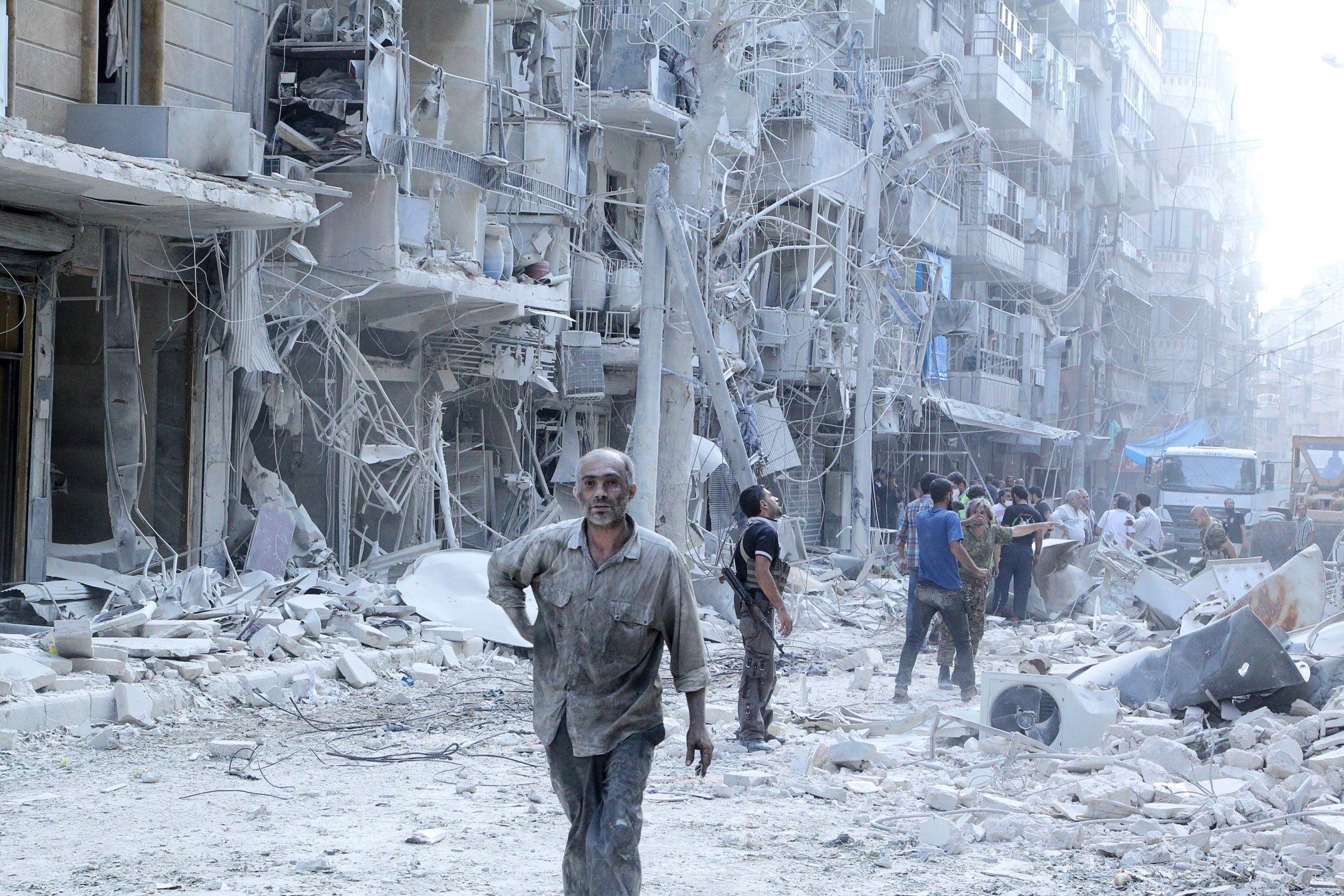 Aleppo Syria Bombs Russia Rebels