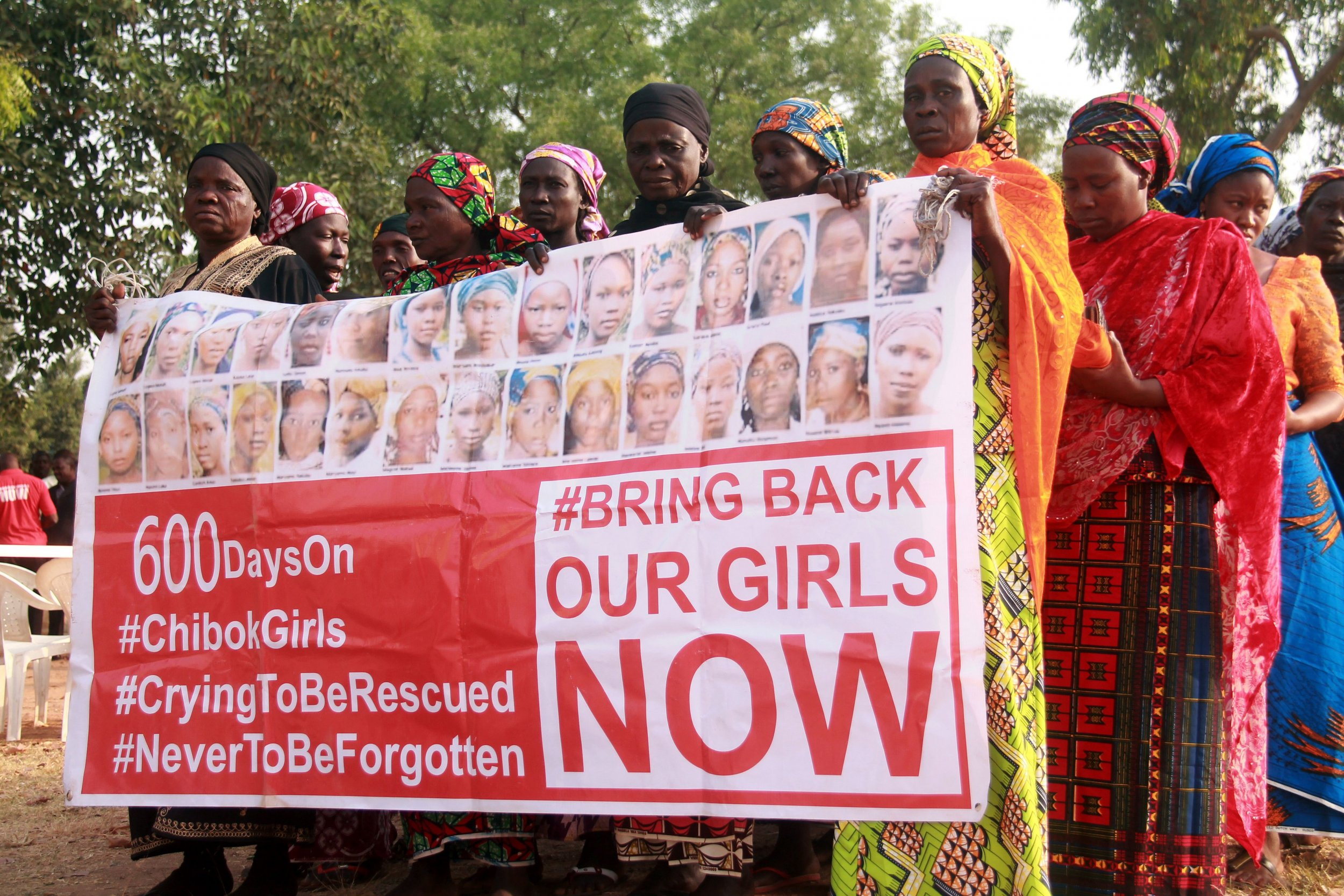 Chibok girls campaigners at a rally in Abuja.