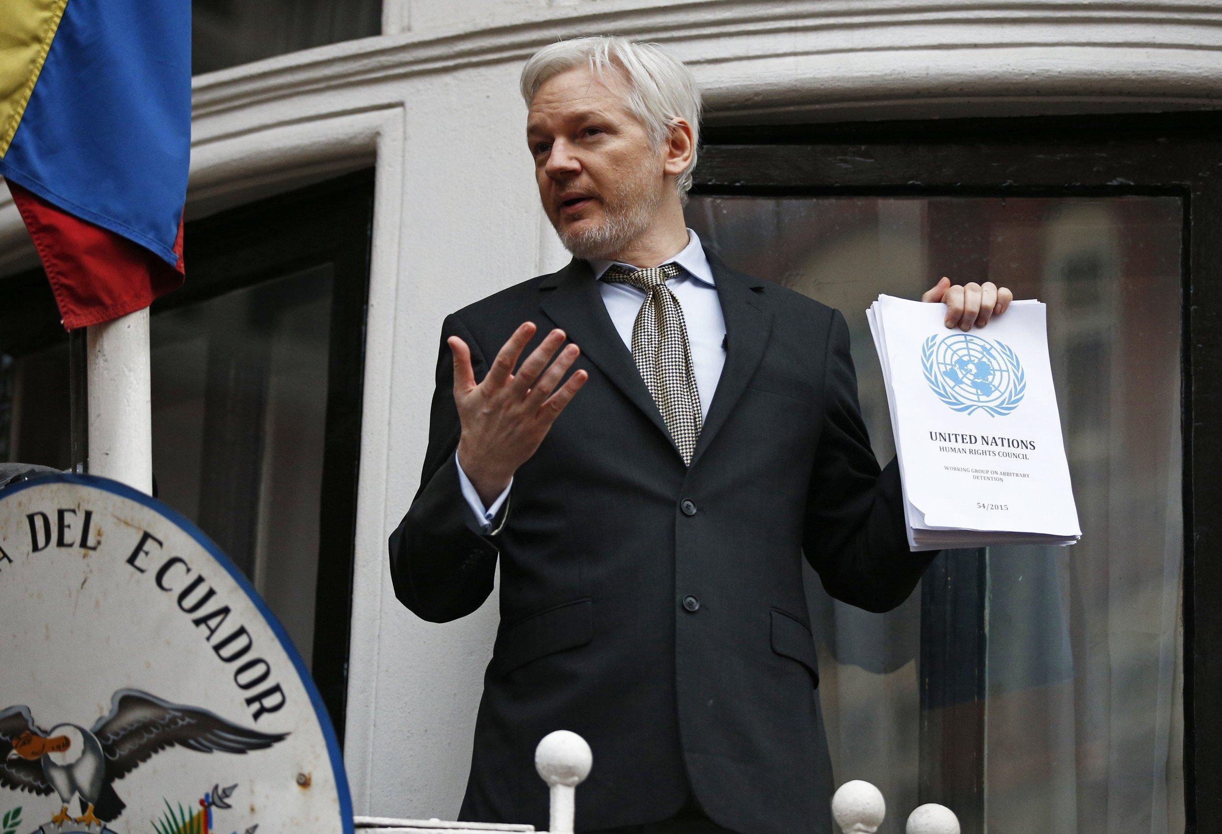 WikiLeaks Assange UN taylor Zayas
