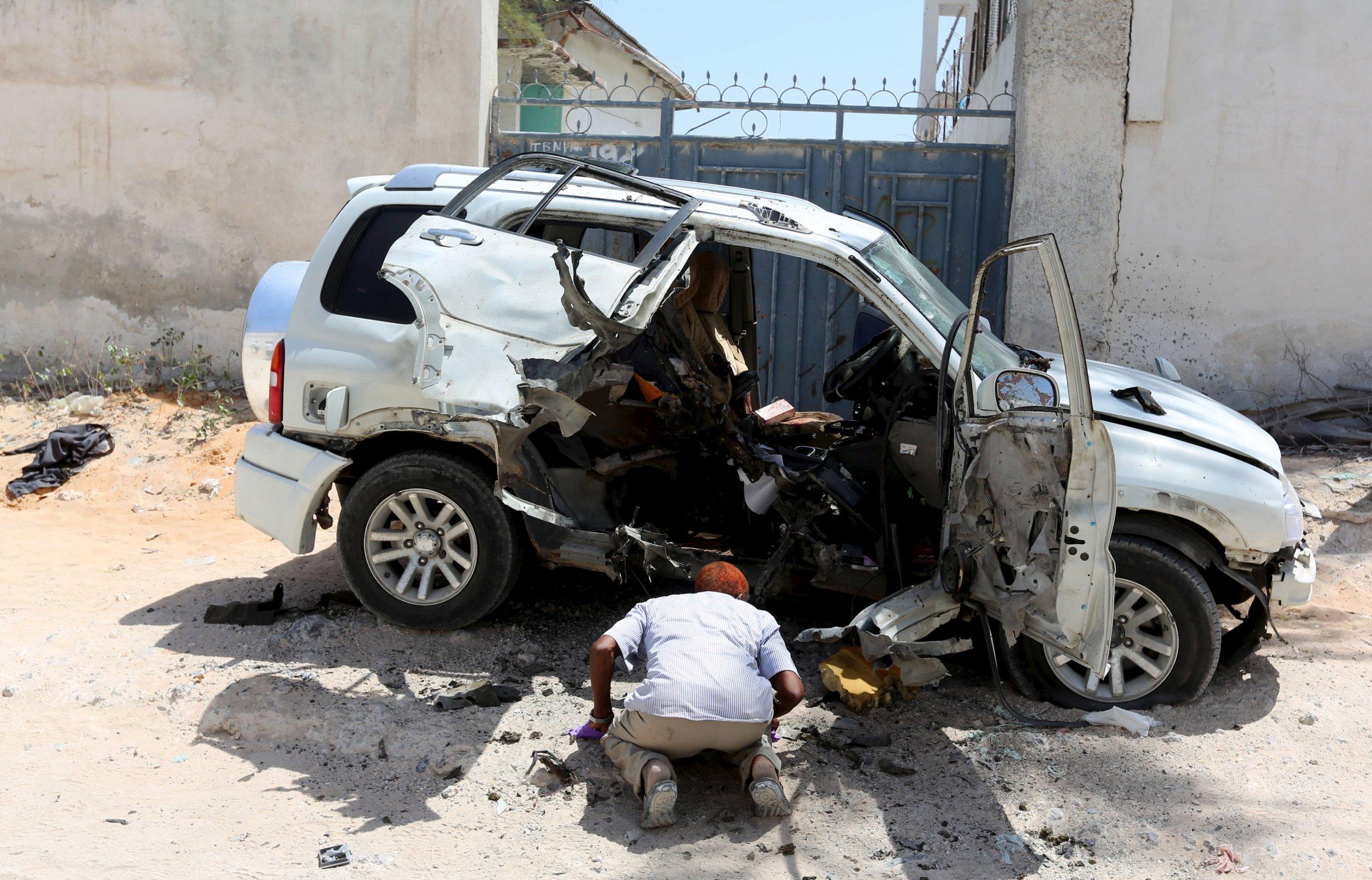 Al-Shabab claim responsibility for the car bomb that killed Muhayadin Mohamed.