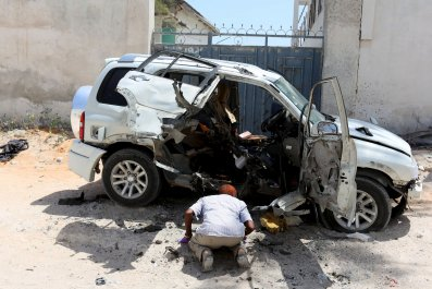 Al-Shabab claim responsibility for the car bomb that killed Muhayadin Mohamed.