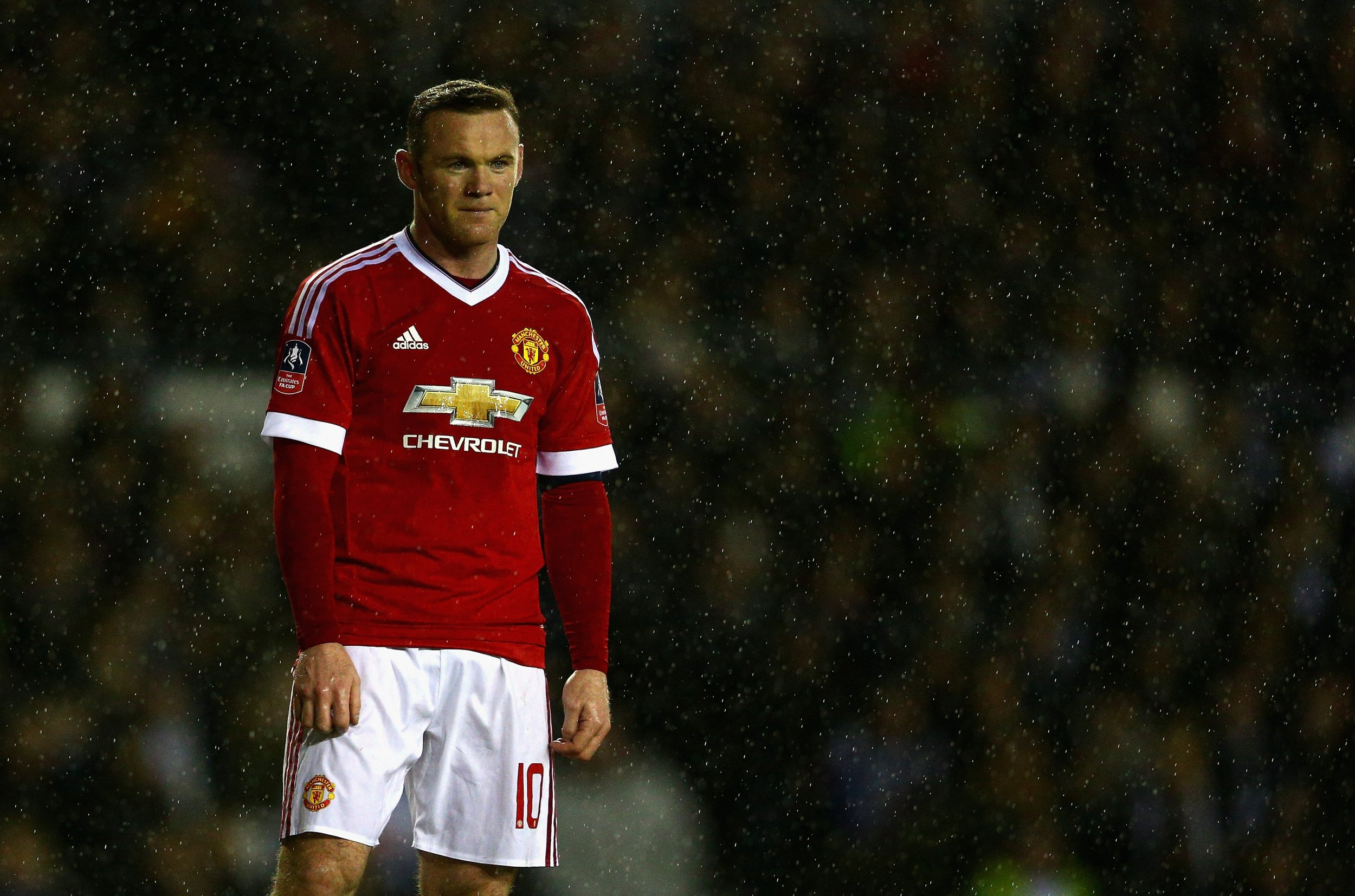 Manchester United captain Wayne Rooney in the FA Cup in January