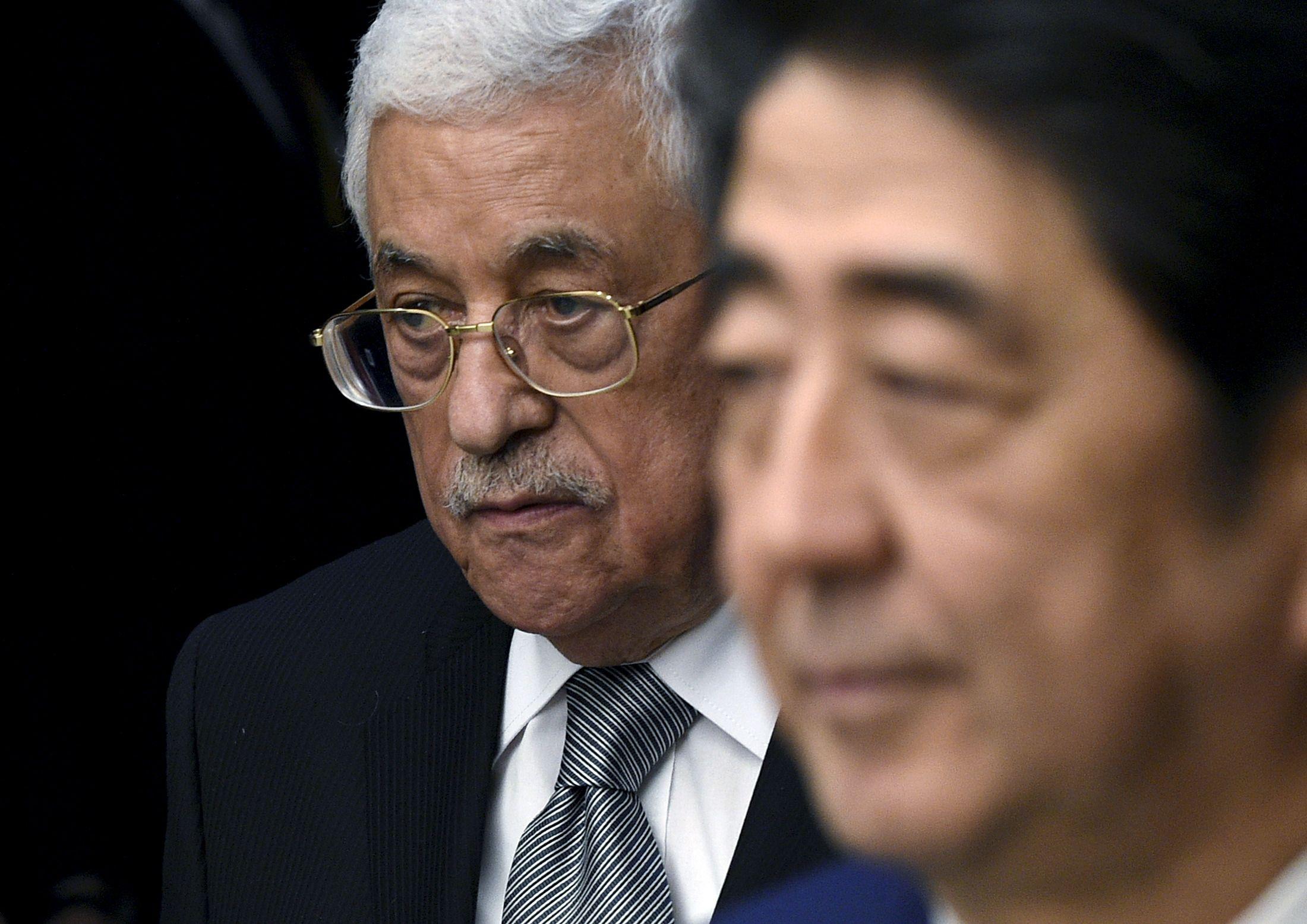 Israel Palestinians Malki Abbas Abe Japan