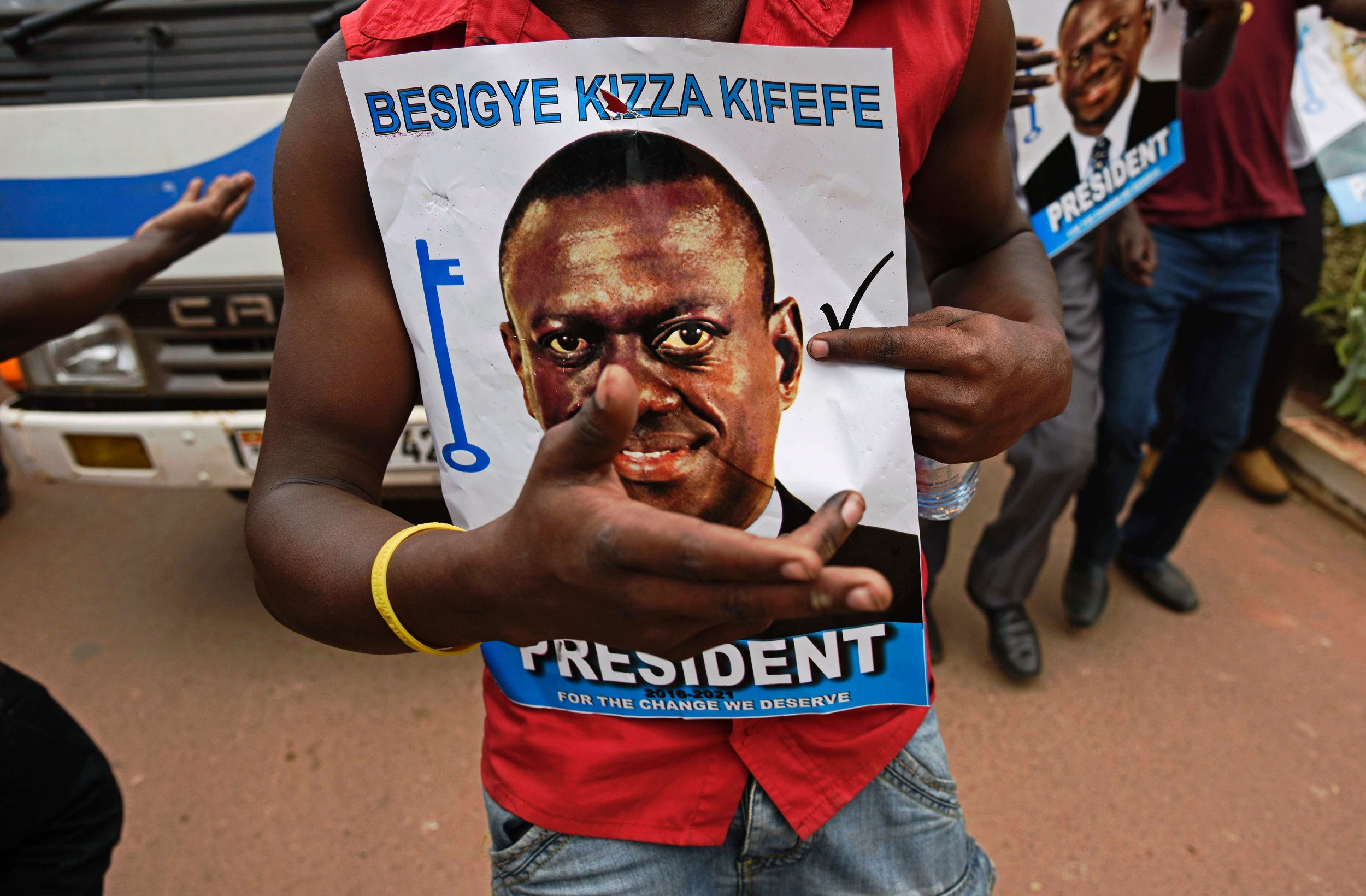 A Kizza Besigye supporter in Kampala, Uganda.