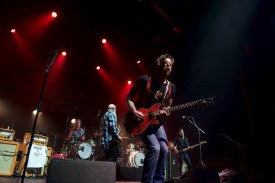 Eagles of Death metal perform onstage in Paris
