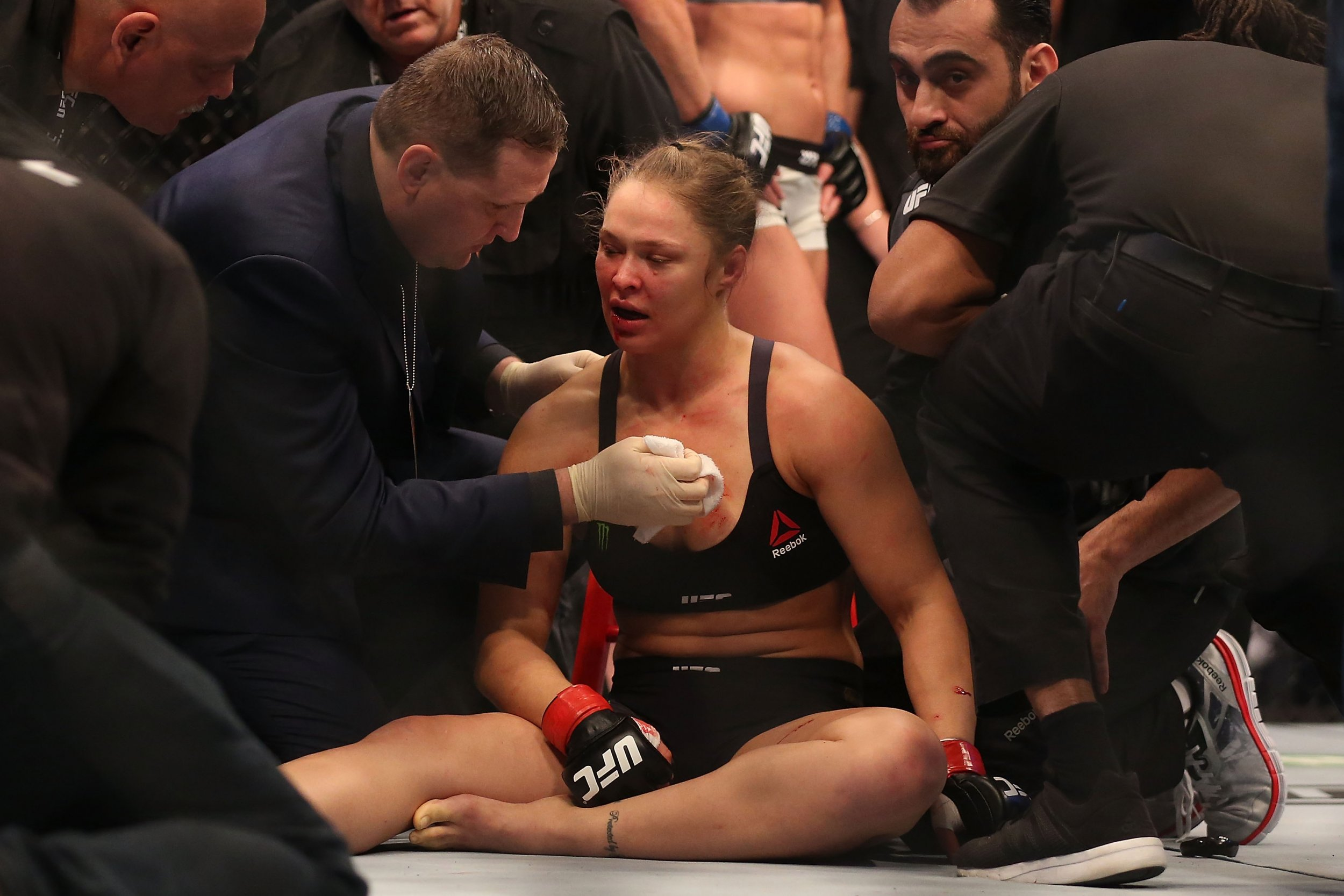 Ronda Rousey was knocked out by Holly Holm in November.