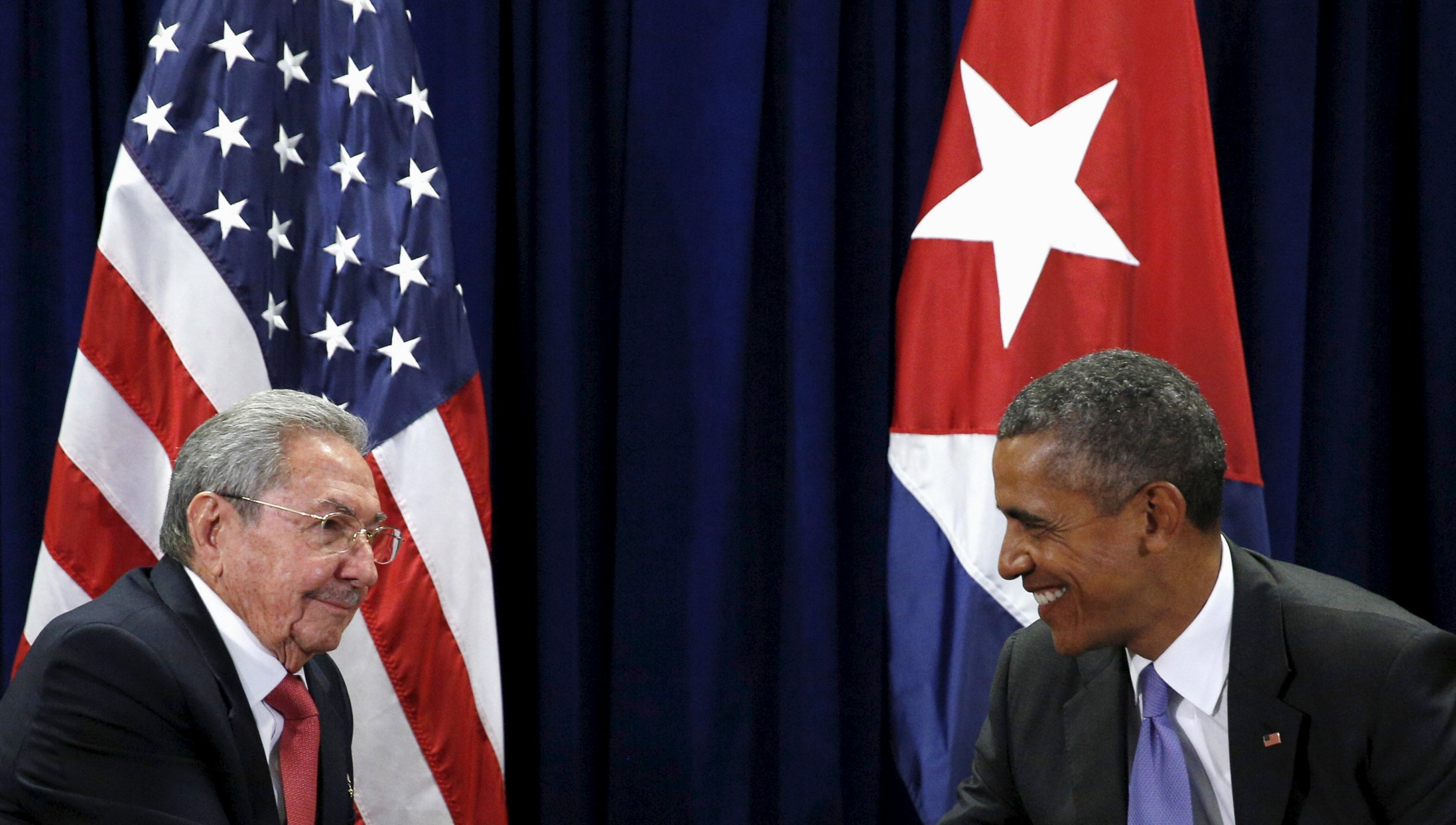 Barack Obama and Raul Castro meet at the U.N. General Assembly.
