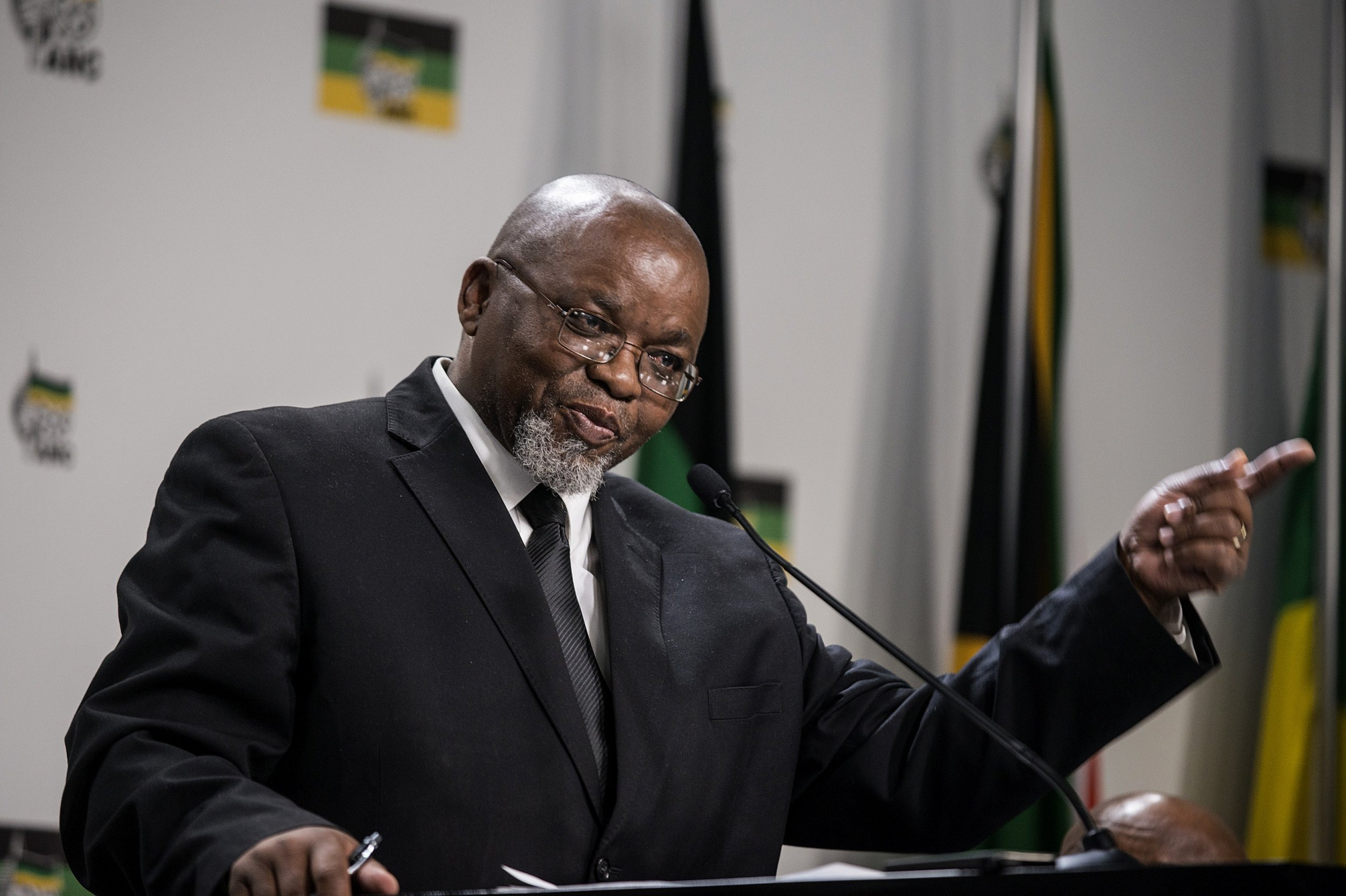 African National Congress secretary general Gwede Mantashe answers questions.