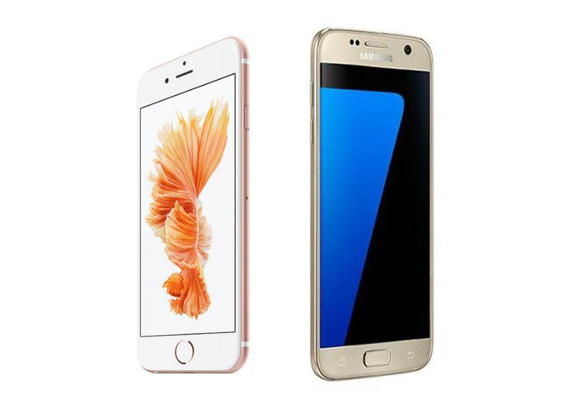 samsung galaxy s7 vs iphone 6s comparison