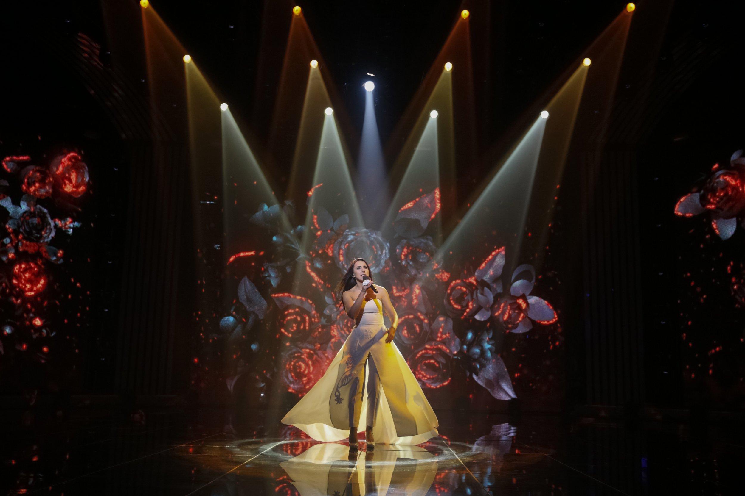 Jamala sings Ukraine's Eurovision entry