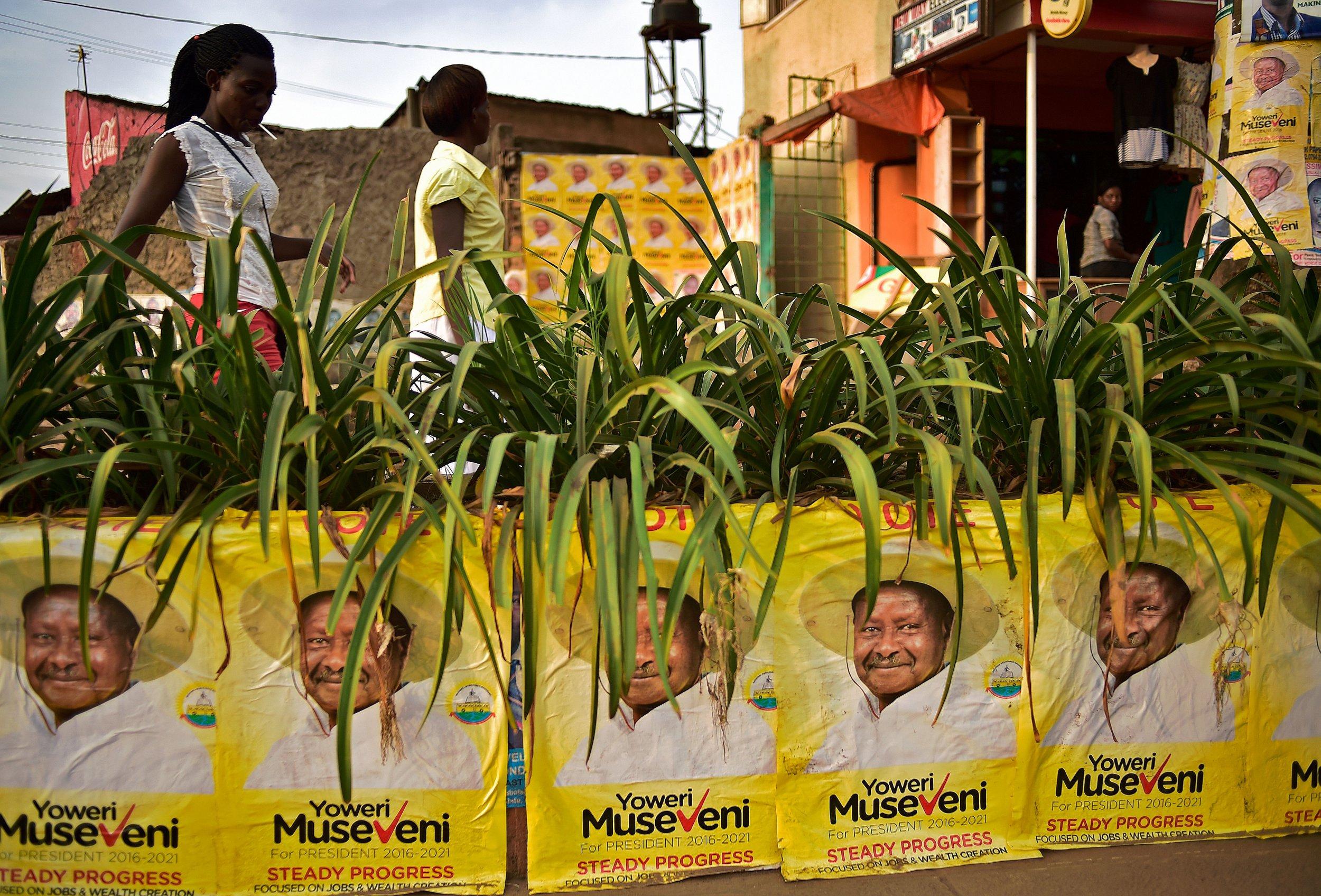 Yoweri Museveni campaign posters.