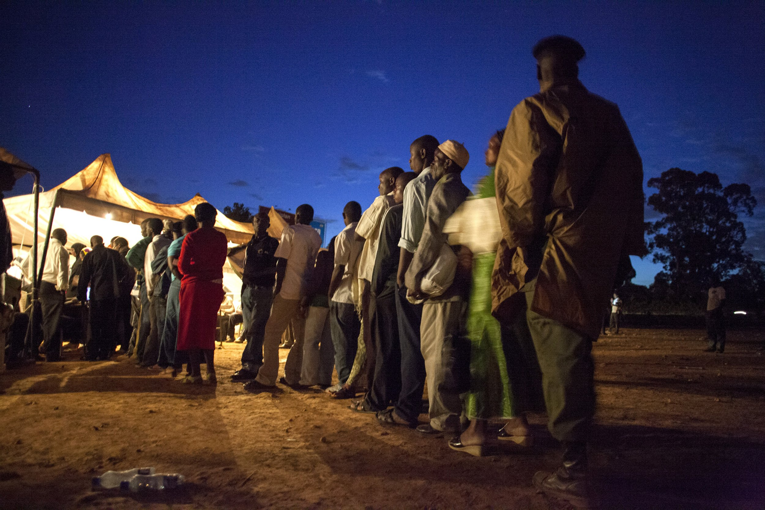 Kenyan voters during the 2013 elections.