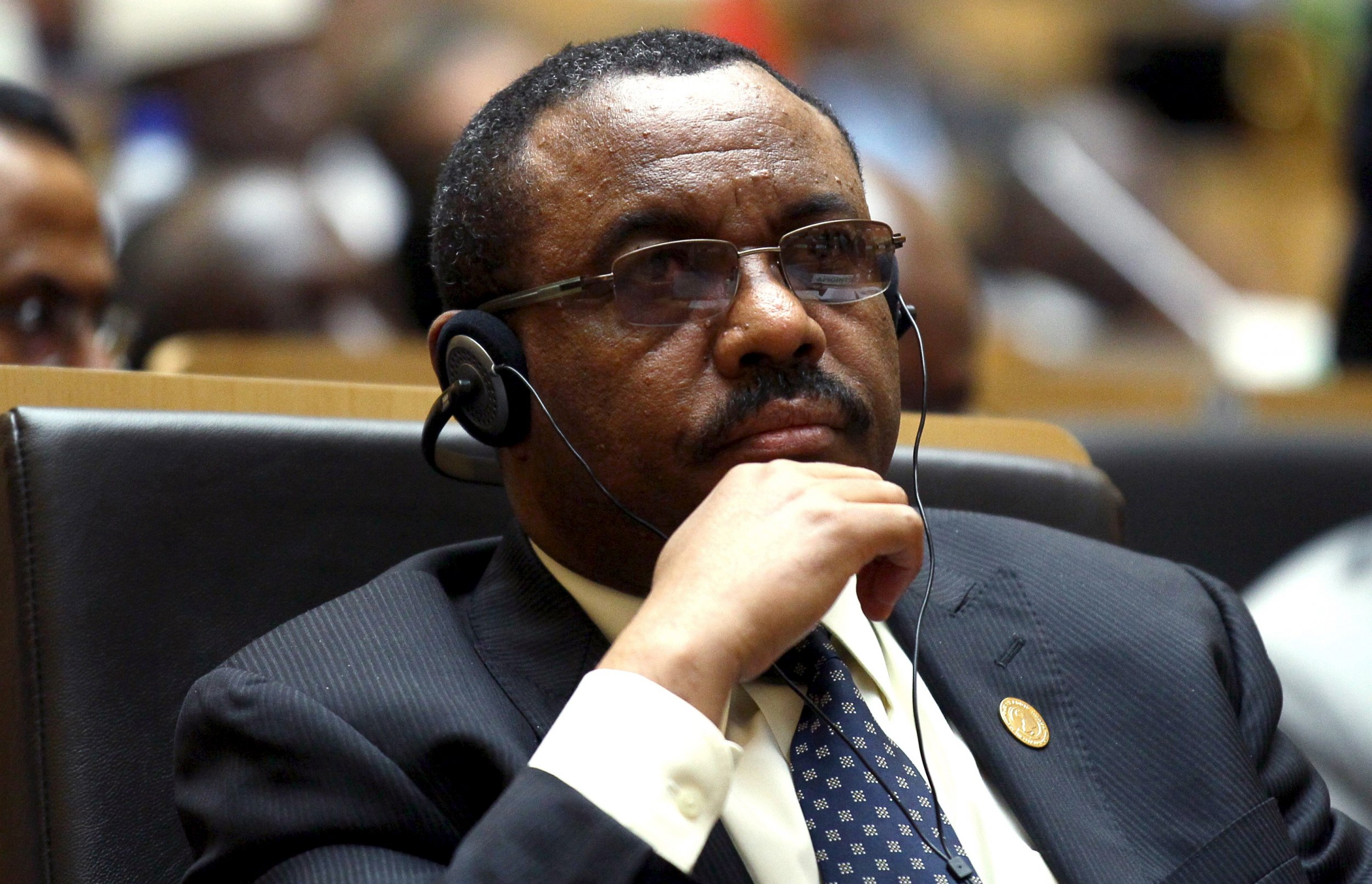 Ethiopian Prime Minister Hailemariam Desalegn attends the AU summit in Addis Ababa.