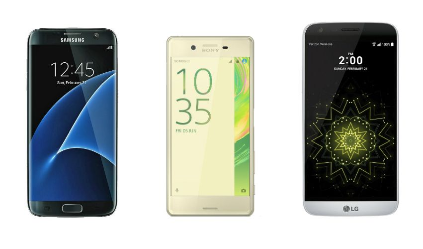 samsung galaxy s7 sony xperia x lg g5 comparison review best android smartphone