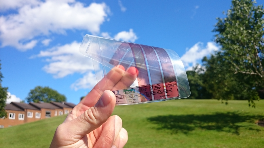 graphene indoor solar cell university of surrey moth eyes