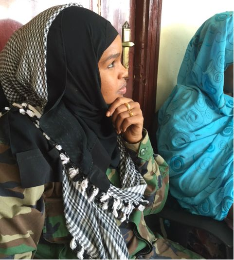 Iman Elman, a captain in the Somali National Army.