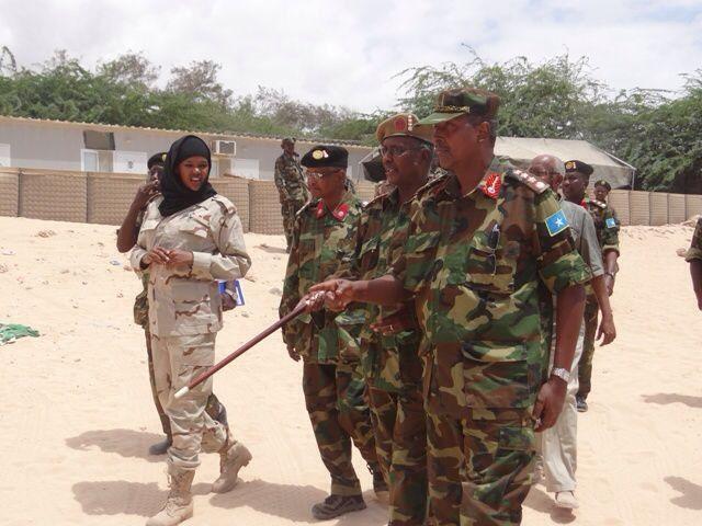 Iman Elman on duty.