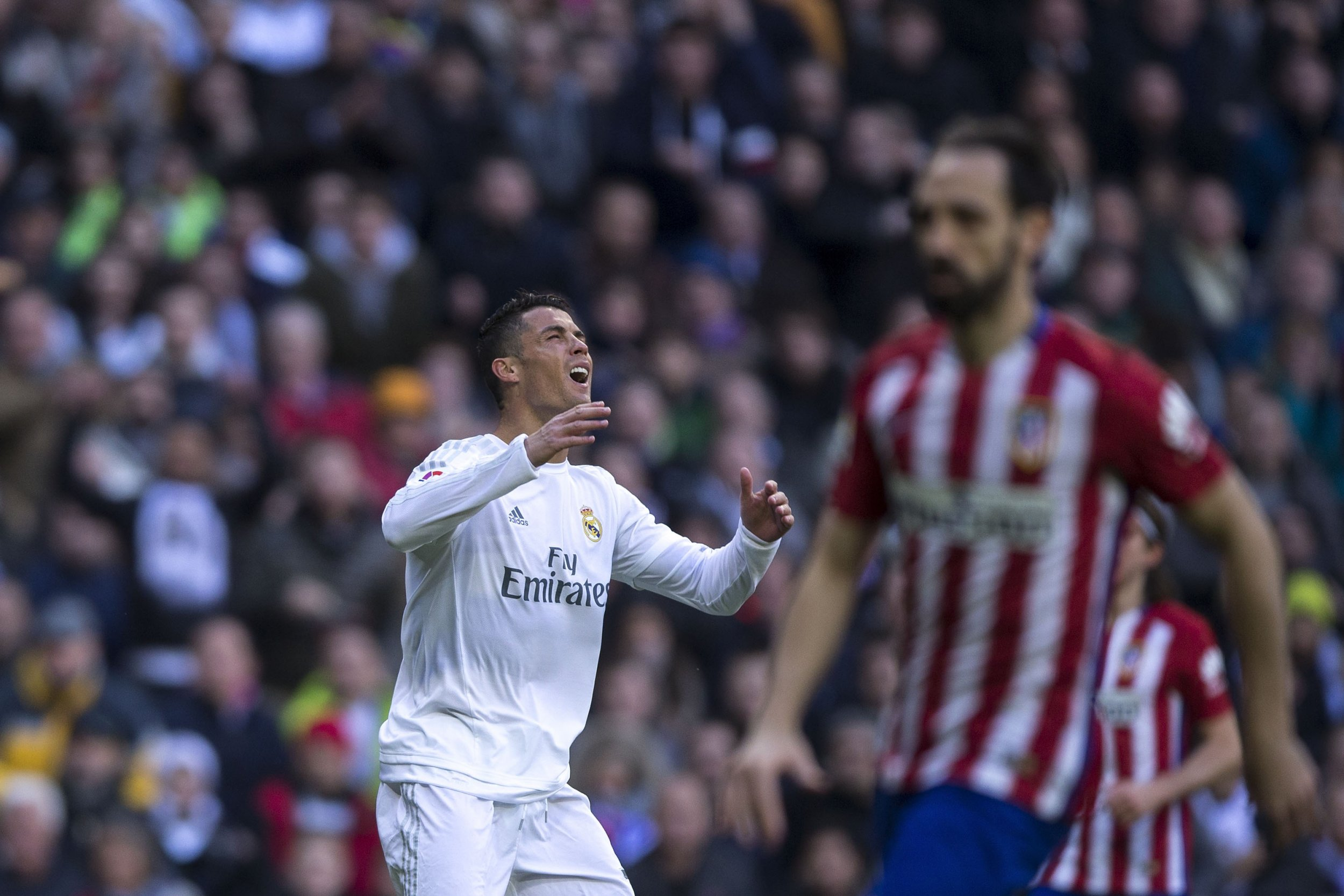 Cristiano Ronaldo and Real Madrid lost on Saturday against Atletico Madrid.
