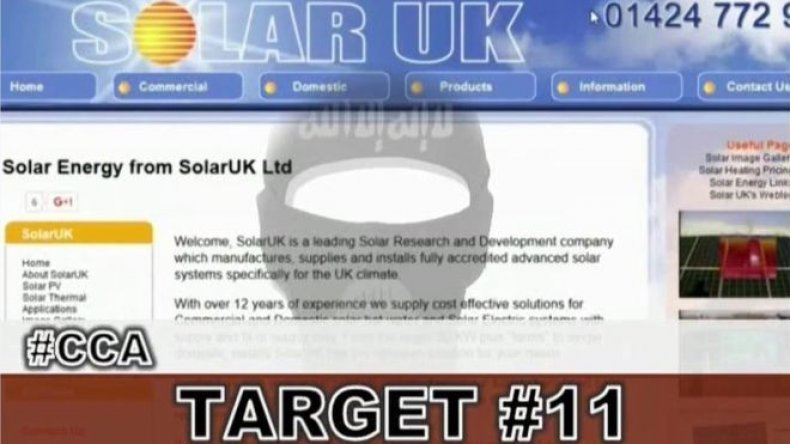 isis attack hack solar uk caliphate cyber army
