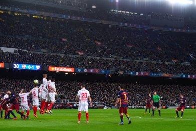 Lionel Messi has scored six direct free kicks for Barcelona this season.