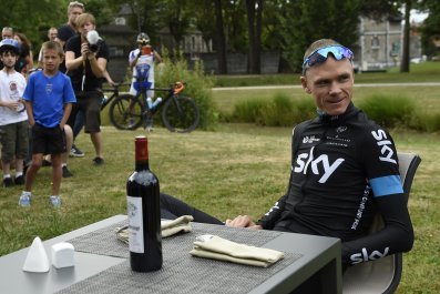 Defending Tour de France champion Chris Froome will hope to avoid French winemakers' protests.