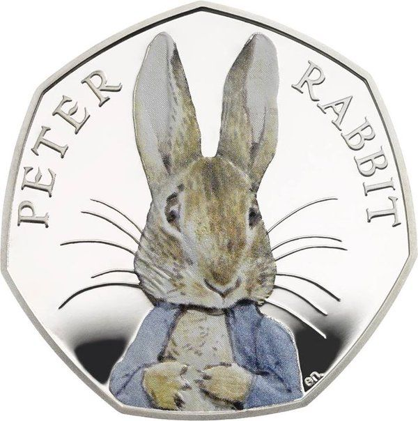 Peter Rabbit commemorative coin released.