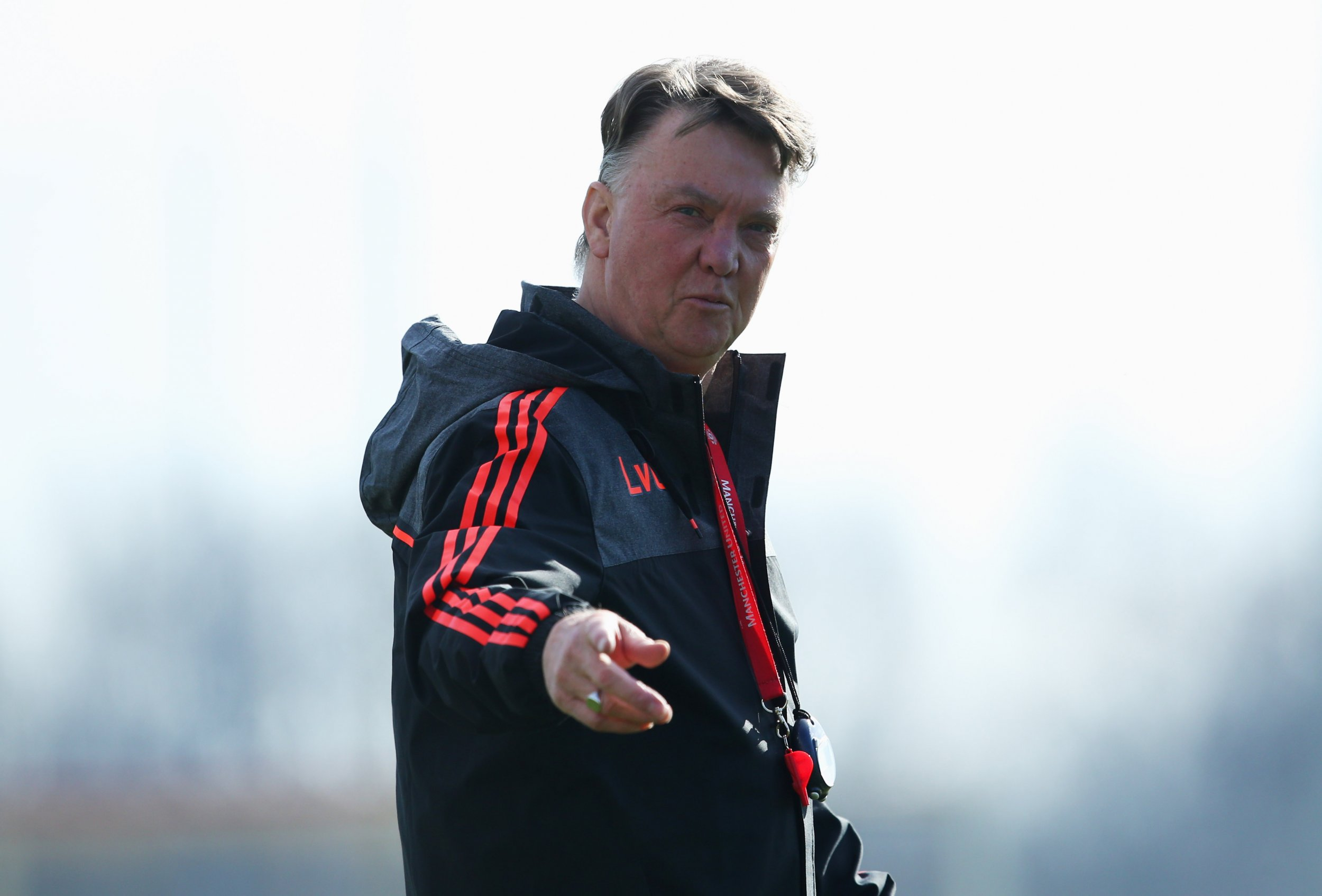 Manchester United manager Louis Van Gaal during a training session.