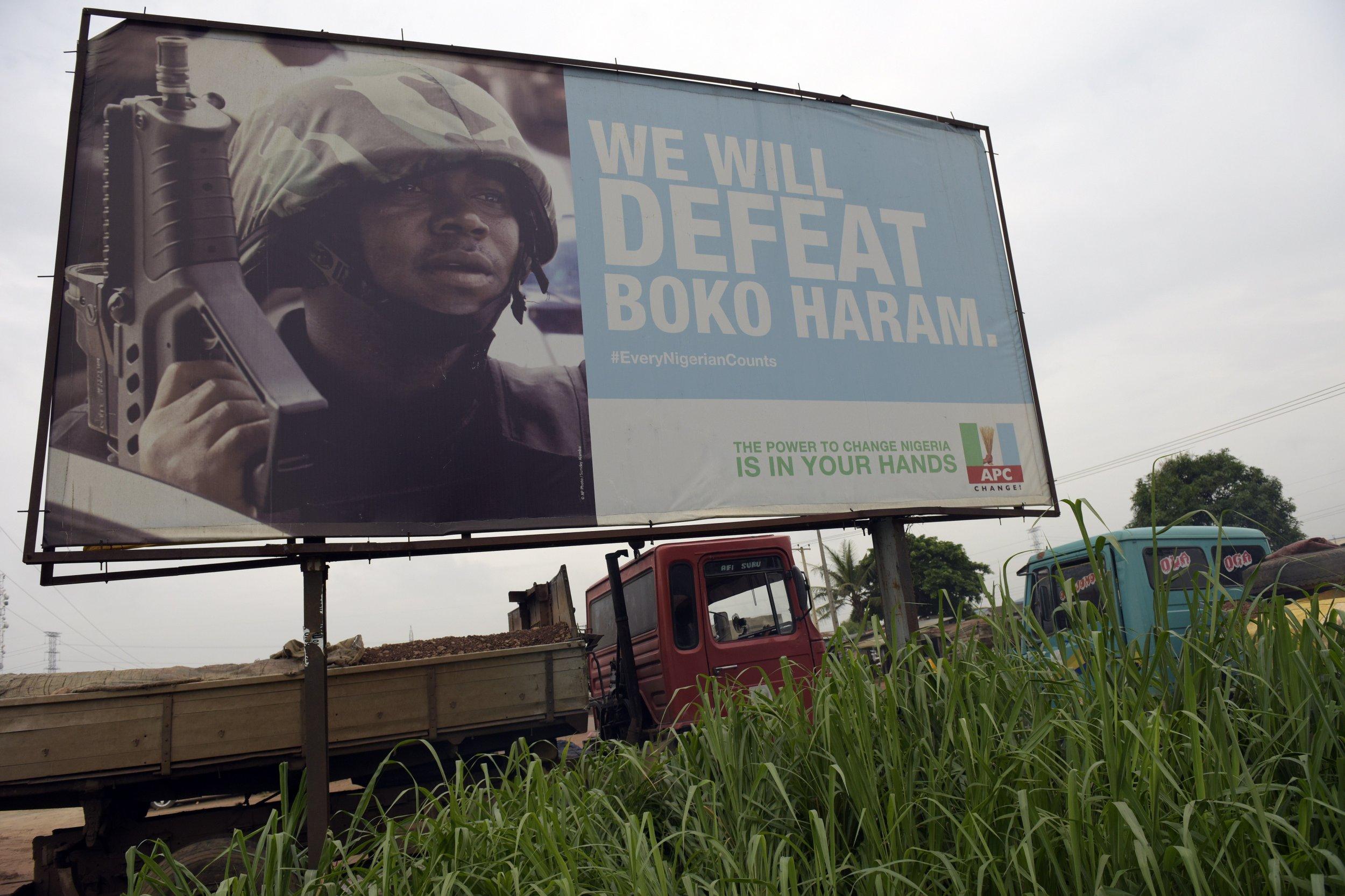 An anti-Boko Haram poster in Nigeria.