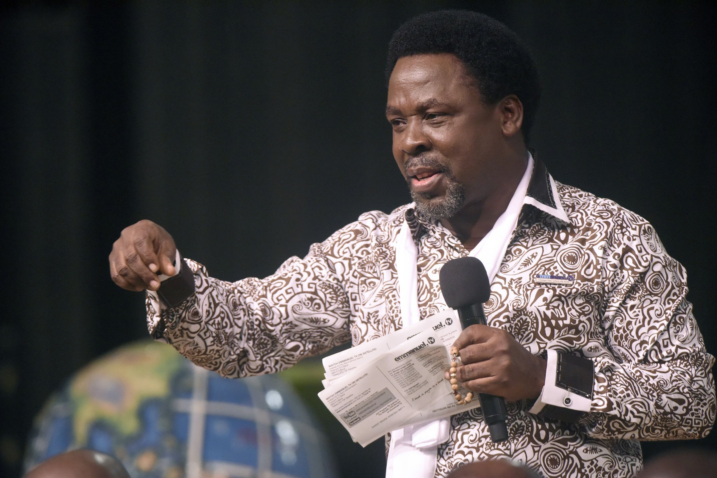 TB Joshua speaks in Lagos.