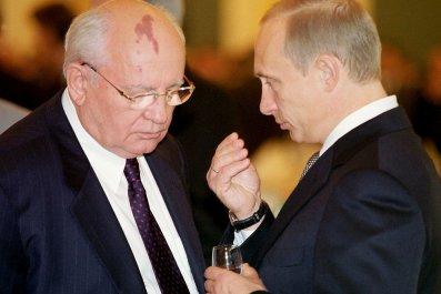 Gorbachev and Putin talk