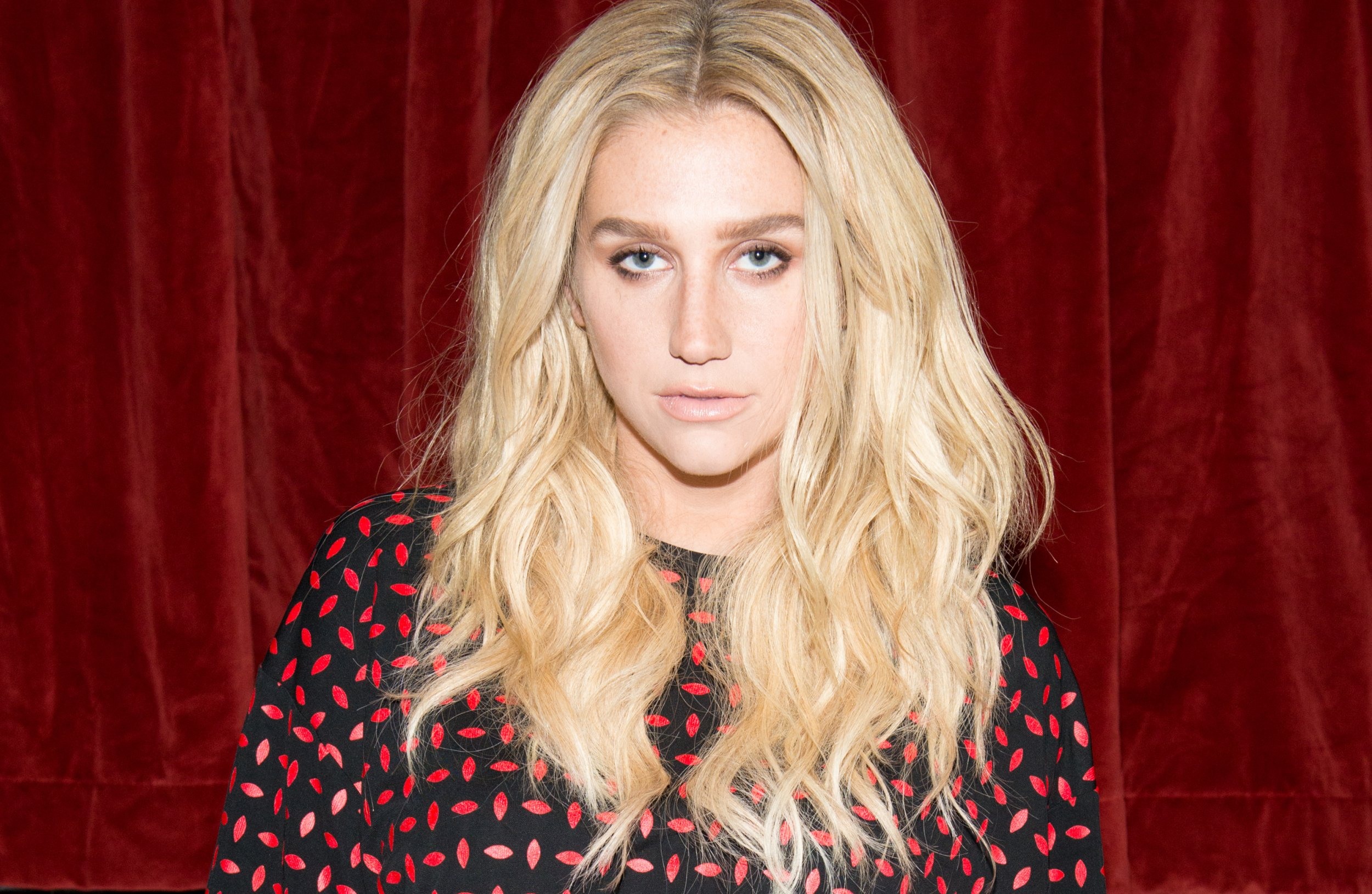 Kesha at Edie Parker fashion show