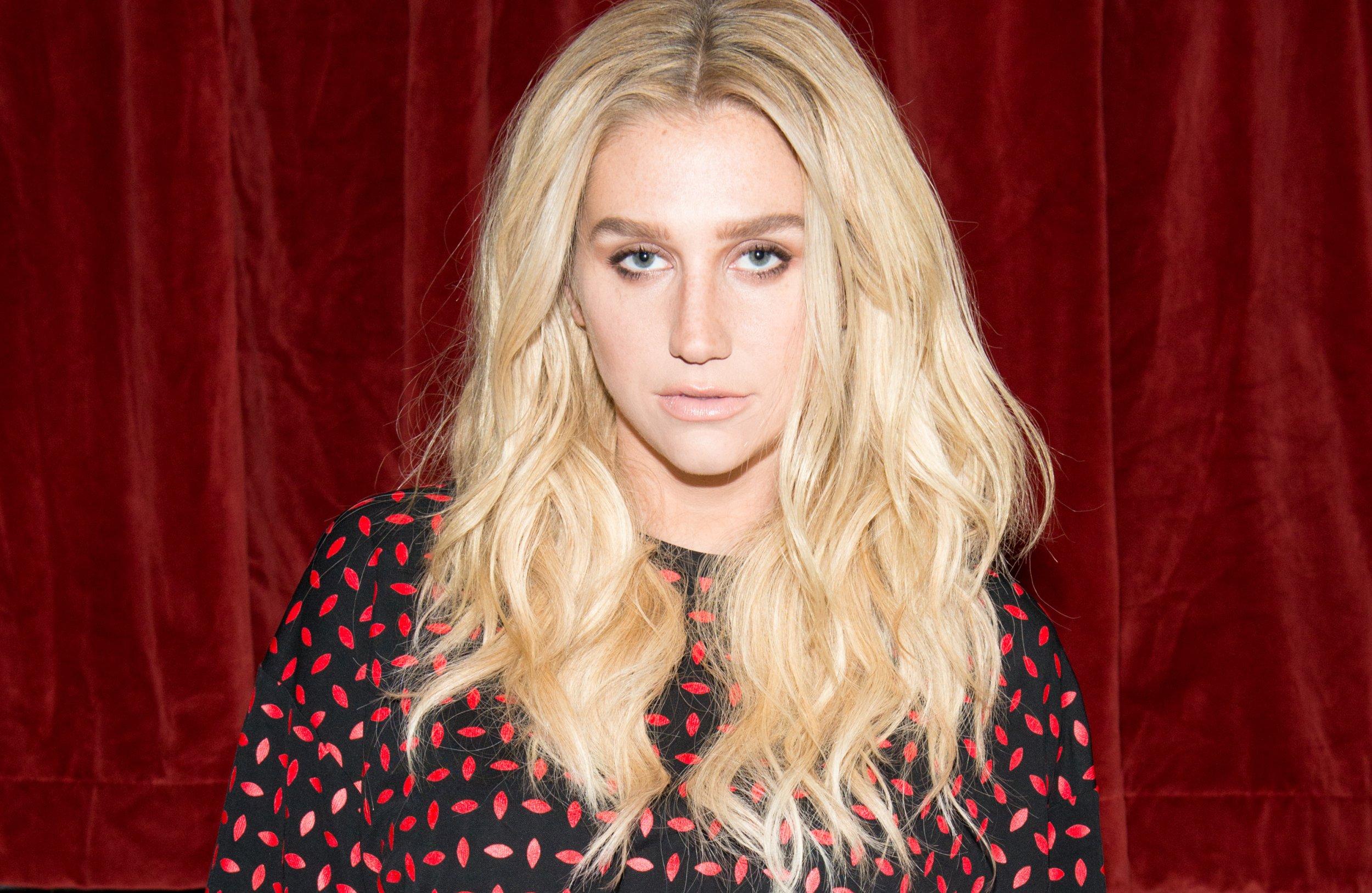 Kesha at Edie Parker fashion show