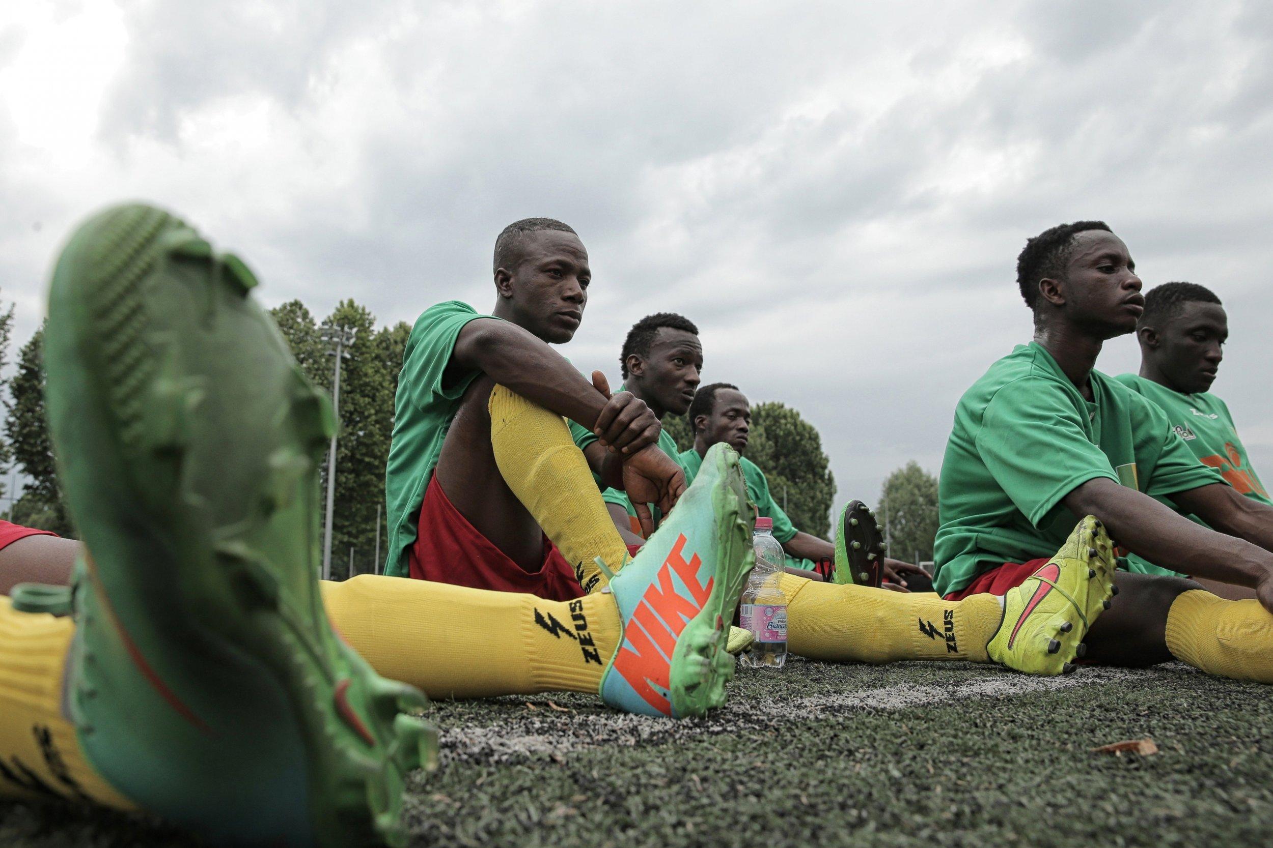 Malian refugee Aboudala Dembele in Turin, June 2015.